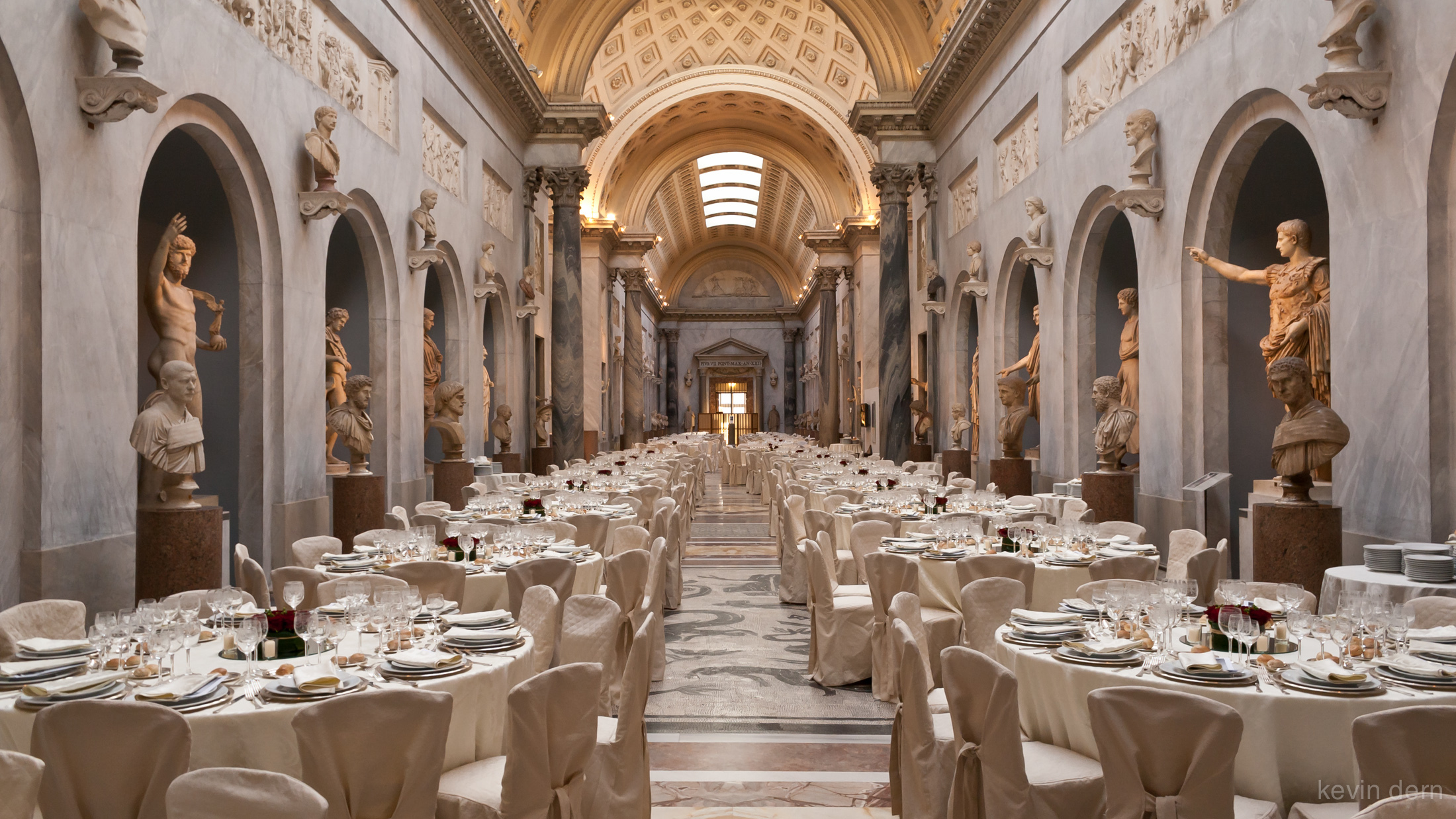 Gala dinner I planned for 300 people inside the Vatican in Rome.