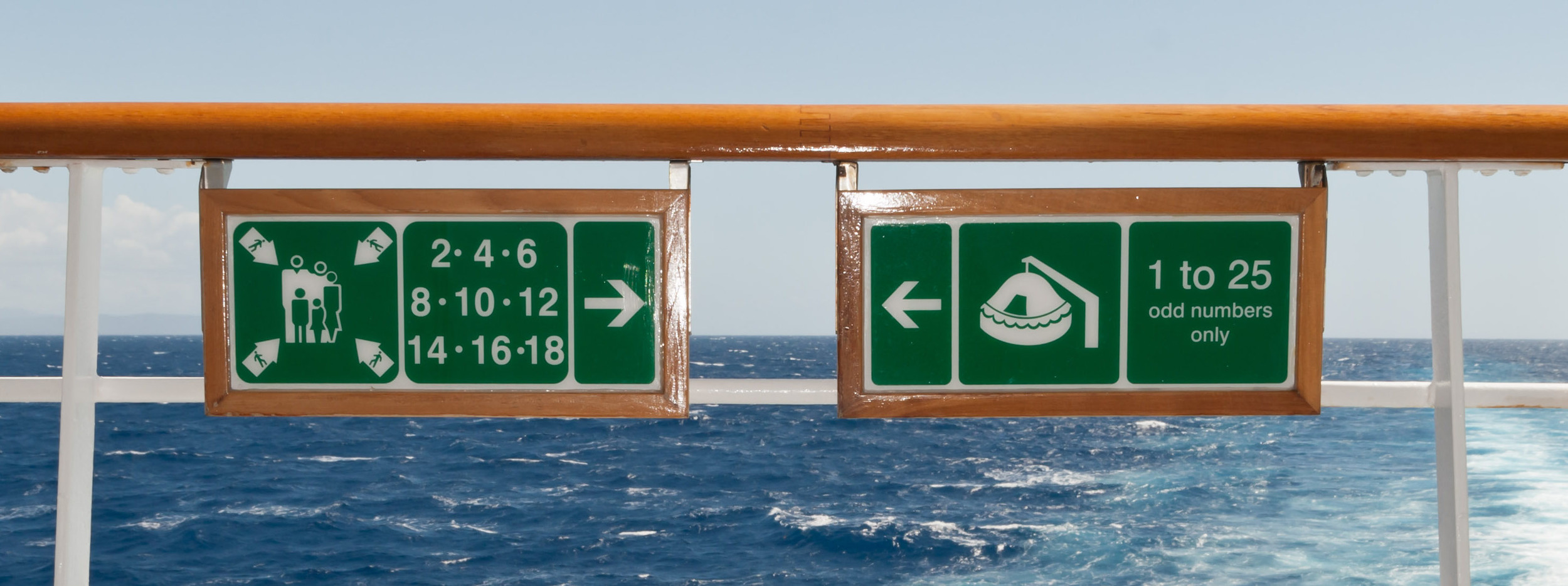 Cruise signs. Photo by Kevin Dern.