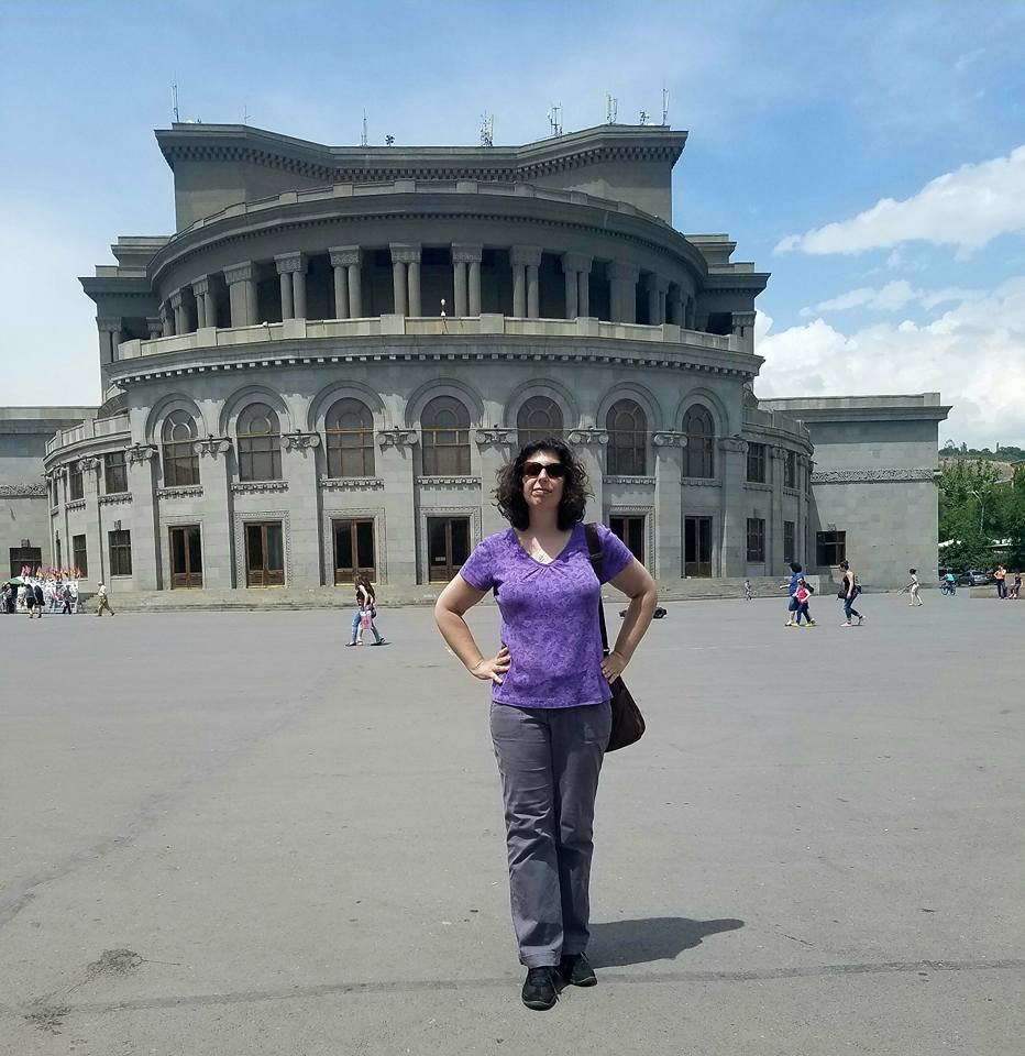 Armenia: Amy at the Yerevan Opera House