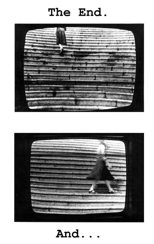 """Anna Bella Geiger, Still from """"Passagens/passages I,"""" BXW, Filmed in Sony Portapack, VT Jom Azulay, 13 minutes, 1974″"""
