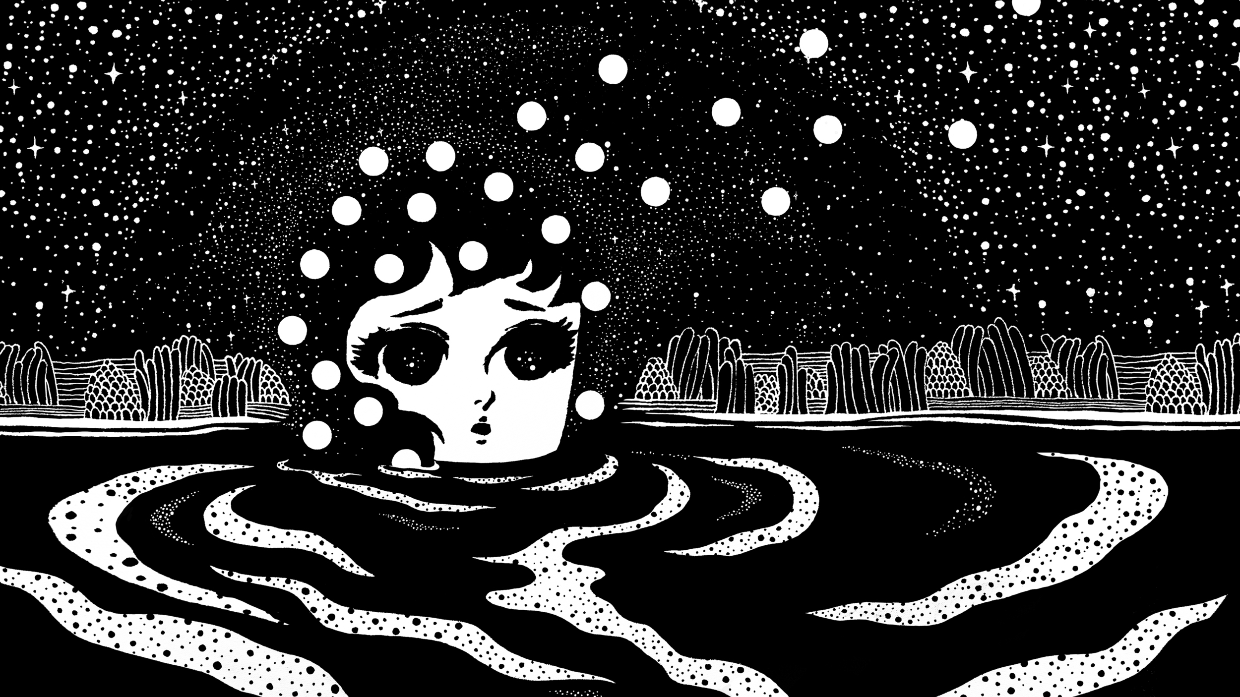"Still from ""Cosmic Girls,"" by Stickymonger"