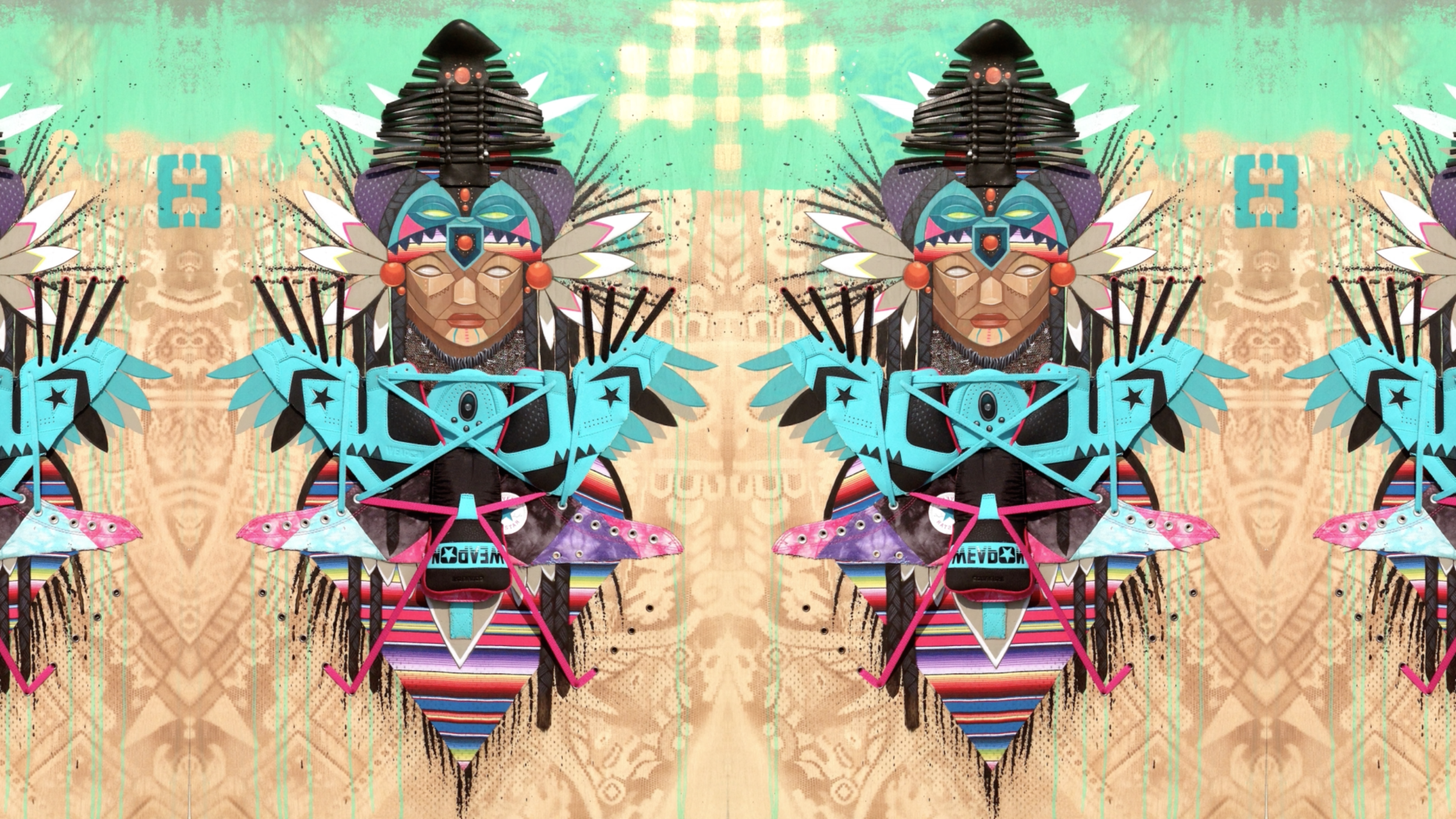 """From the series """"Neo-Indigenous,"""" by Marka27"""