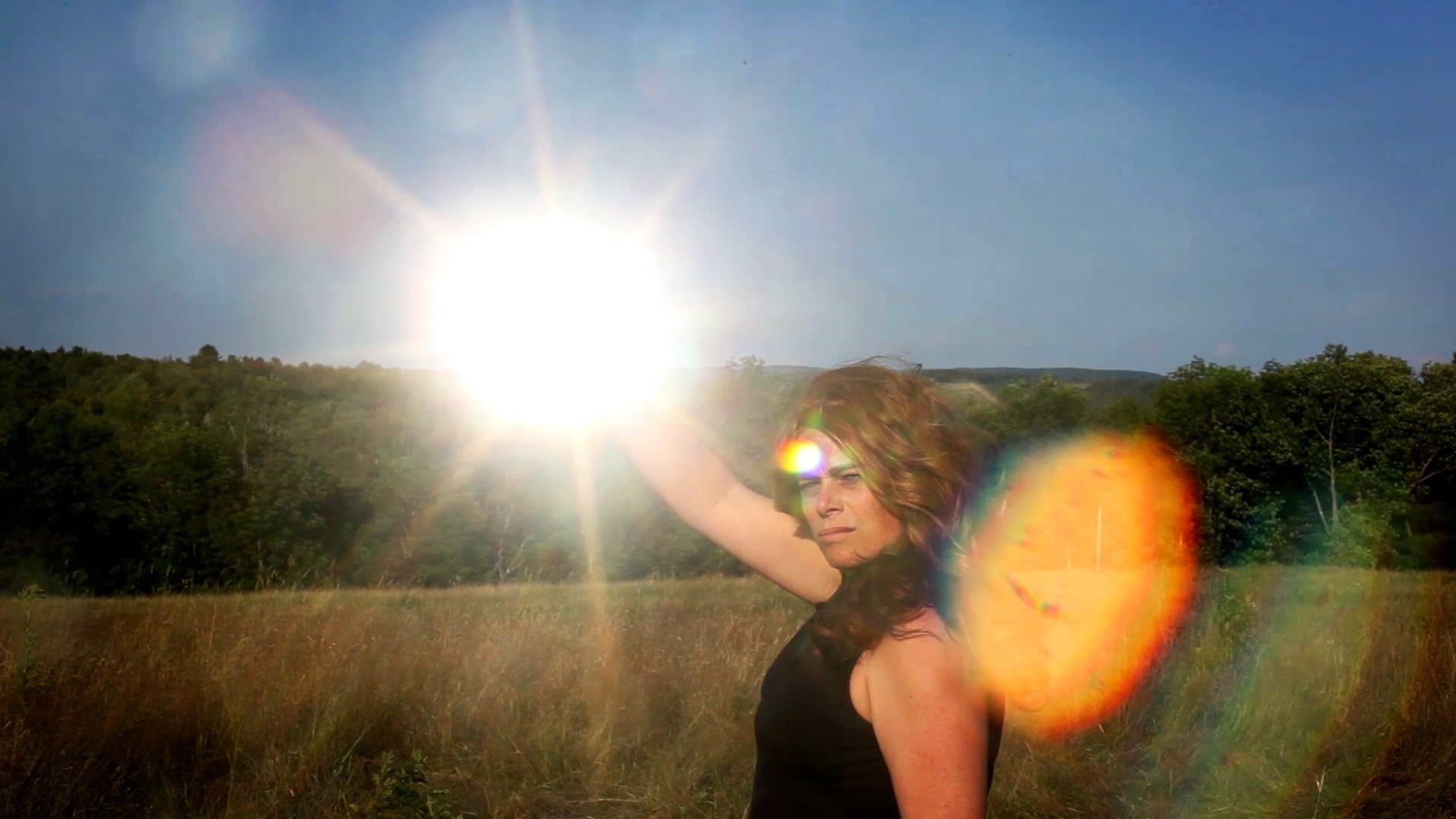 """Still from, """"Untitled (Sun in Hand),"""" by Lilly McElroy, 2016"""