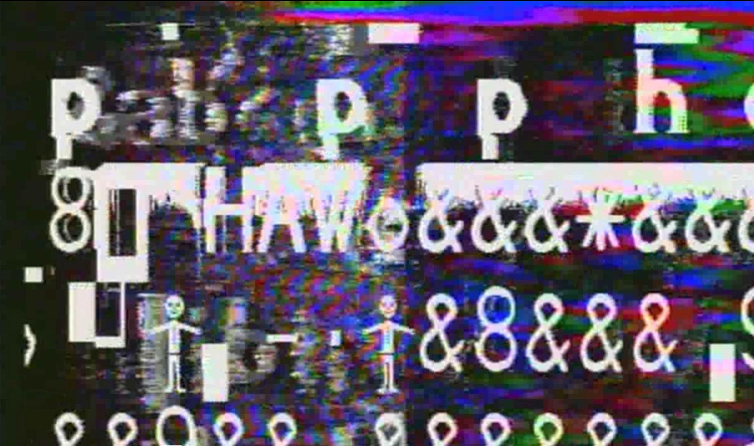 "still from ""Language Virus,"" by Raymond Salvatore Harmon"