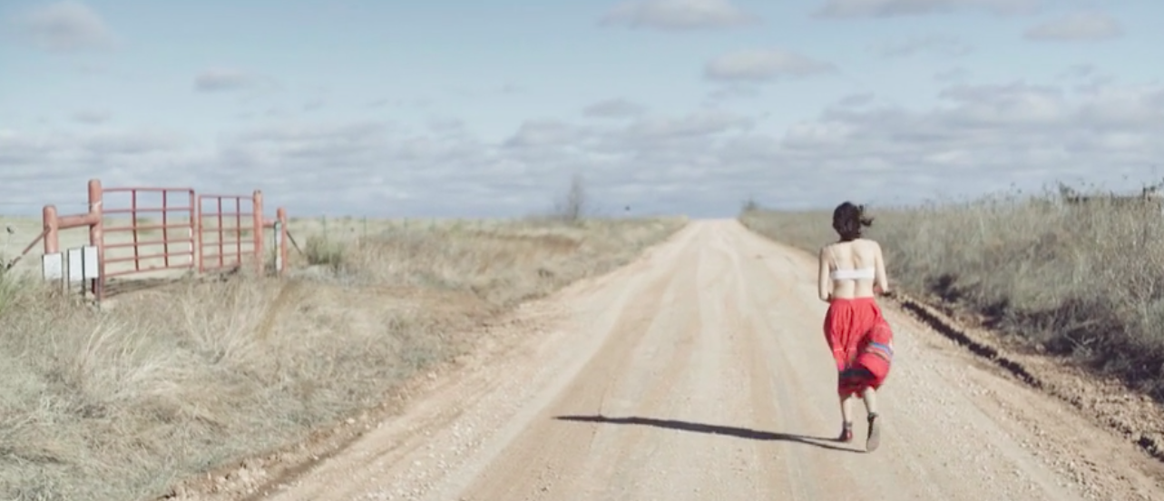 "still from ""a drive west,"" by Dylan McLaughlin (Diné)"