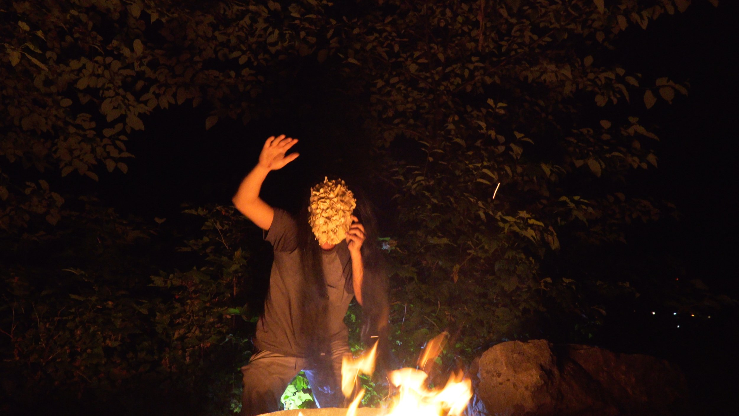 "still from ""Unceremonial Dance Mask, 21st century,"" by Nicholas Galanin (Tlingit)"