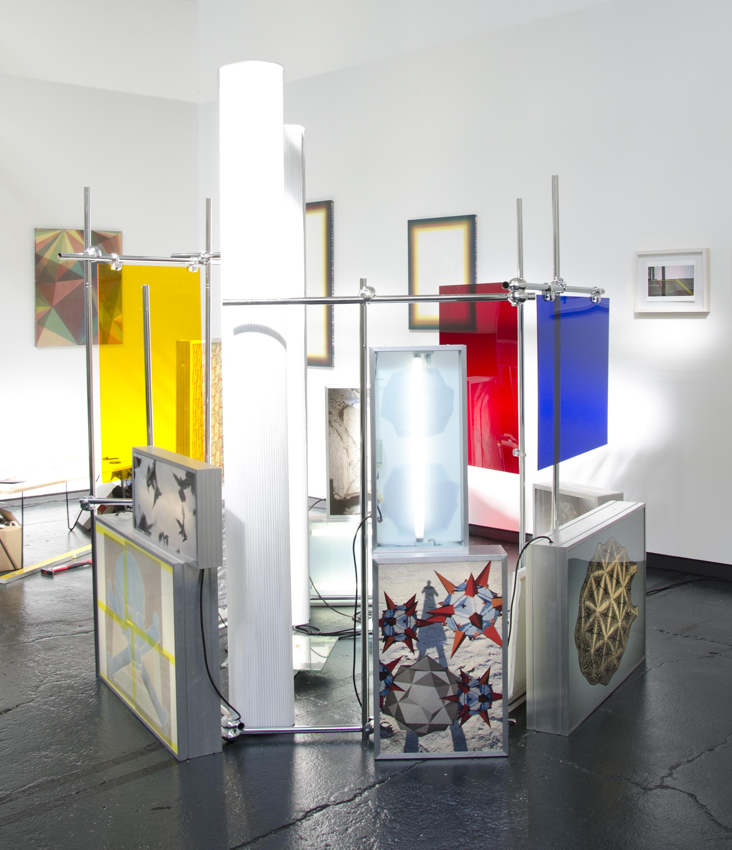 "Christine Schulz, Installation Process Image, ""WAYS,"" mixed media installation, 2015-2018"