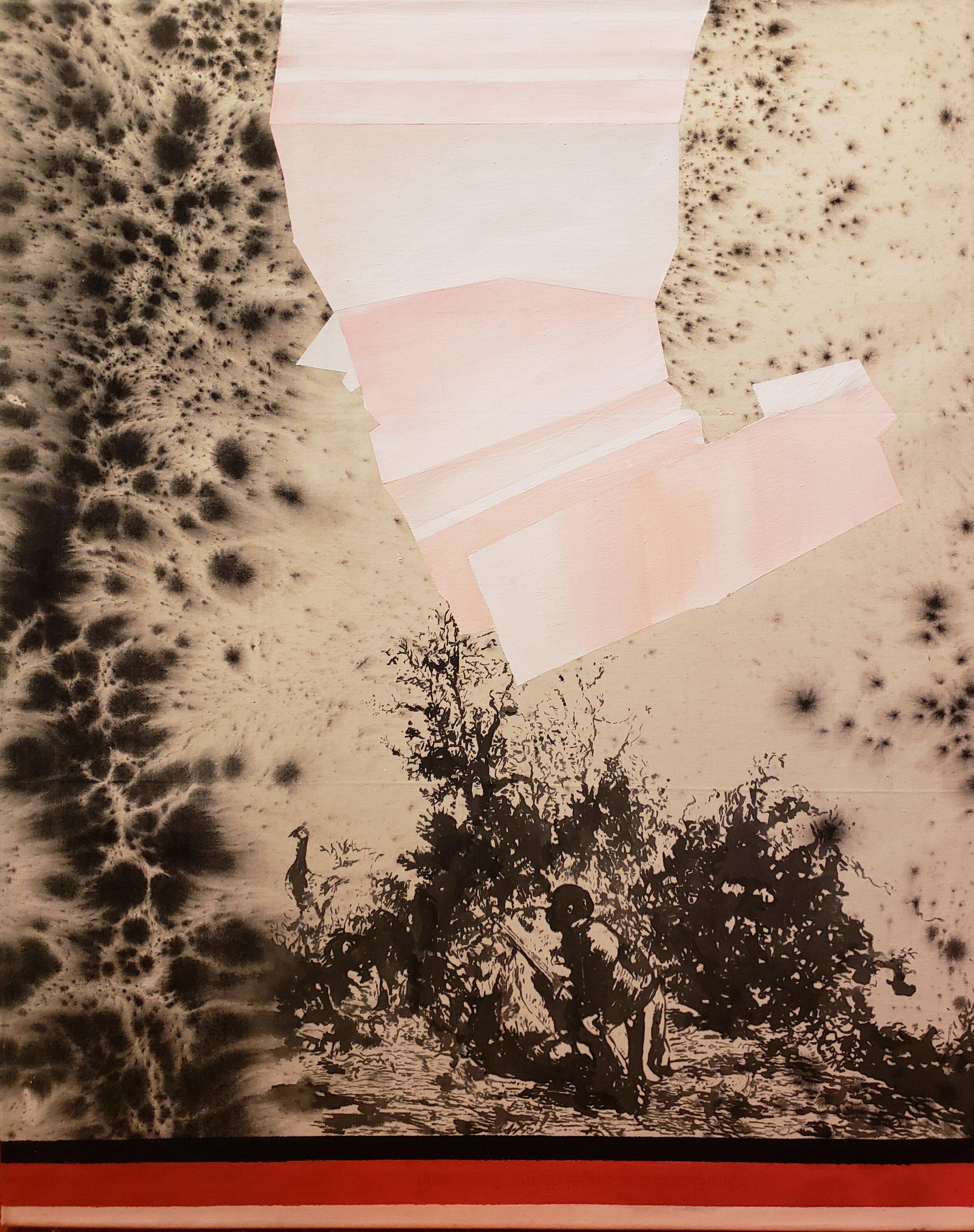 "Hans Peter Adamski, ""Untitled,"" Mixed Media on Canvas, 70x87 cm, 2016"