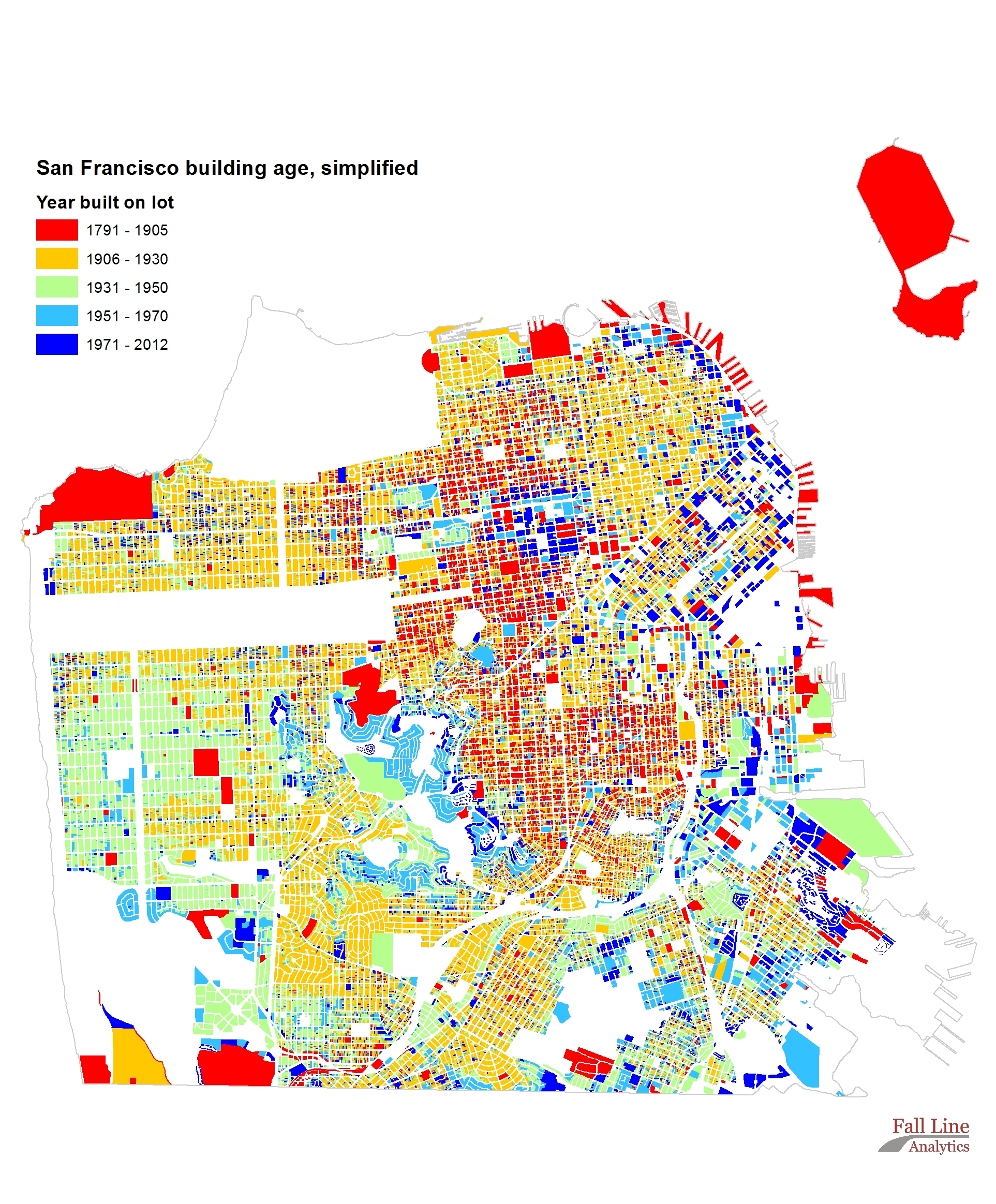 Building age, simple, San Francisco CA