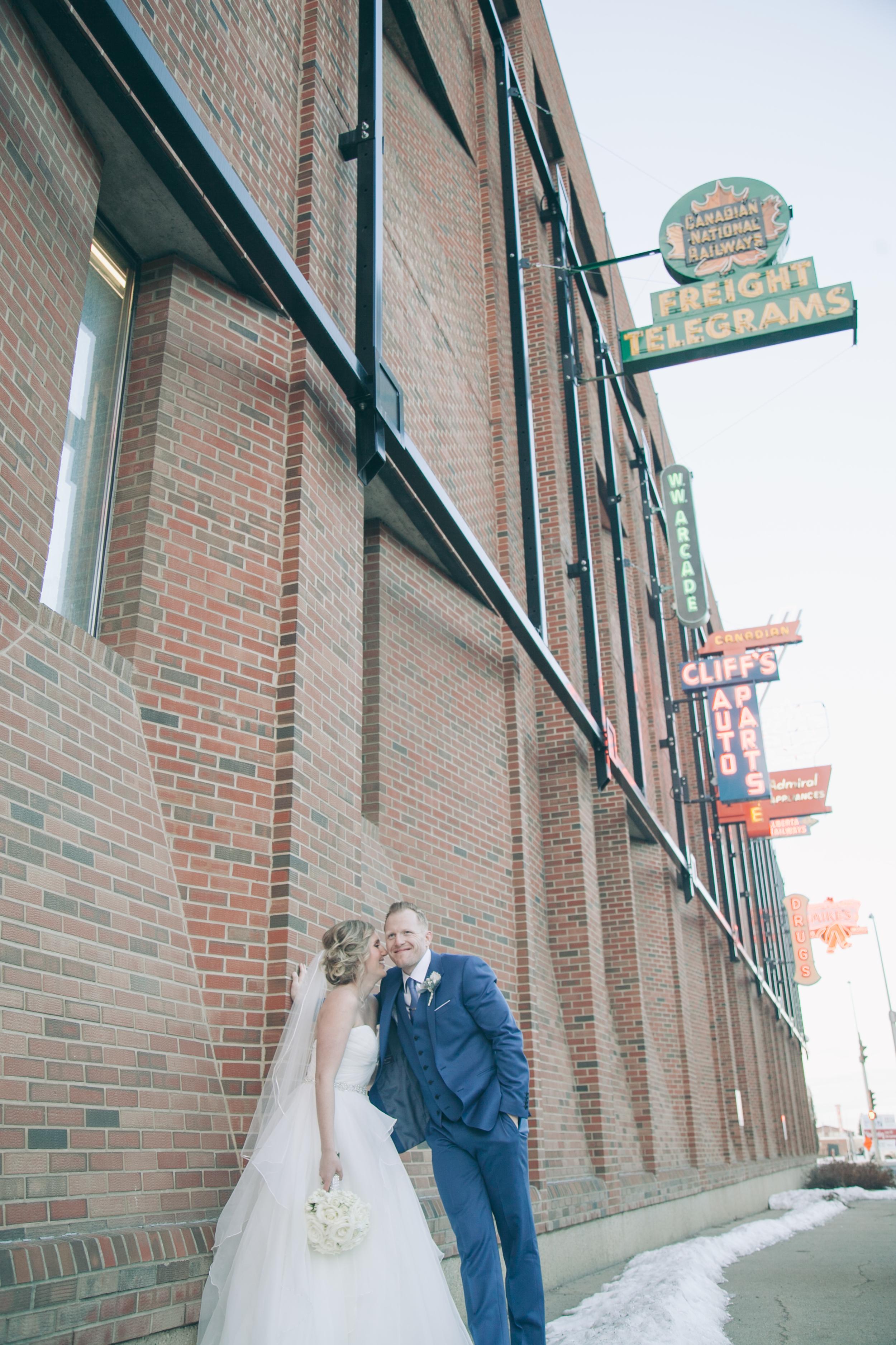 Neon Sign Museum Edmonton Wedding
