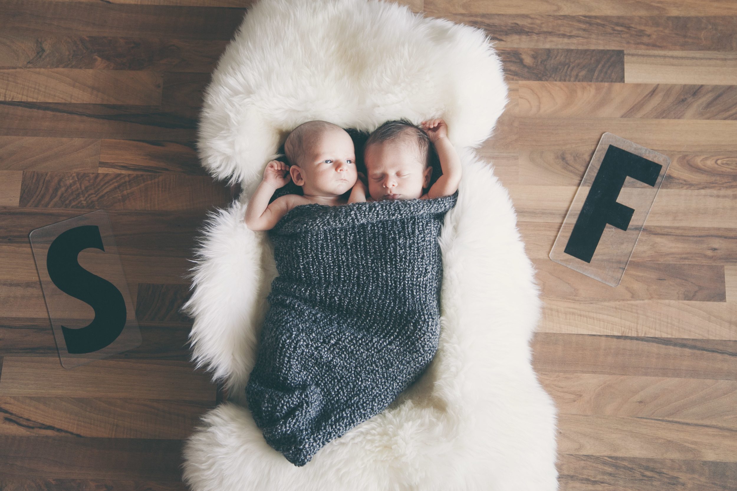 Downtown Newborn Twins