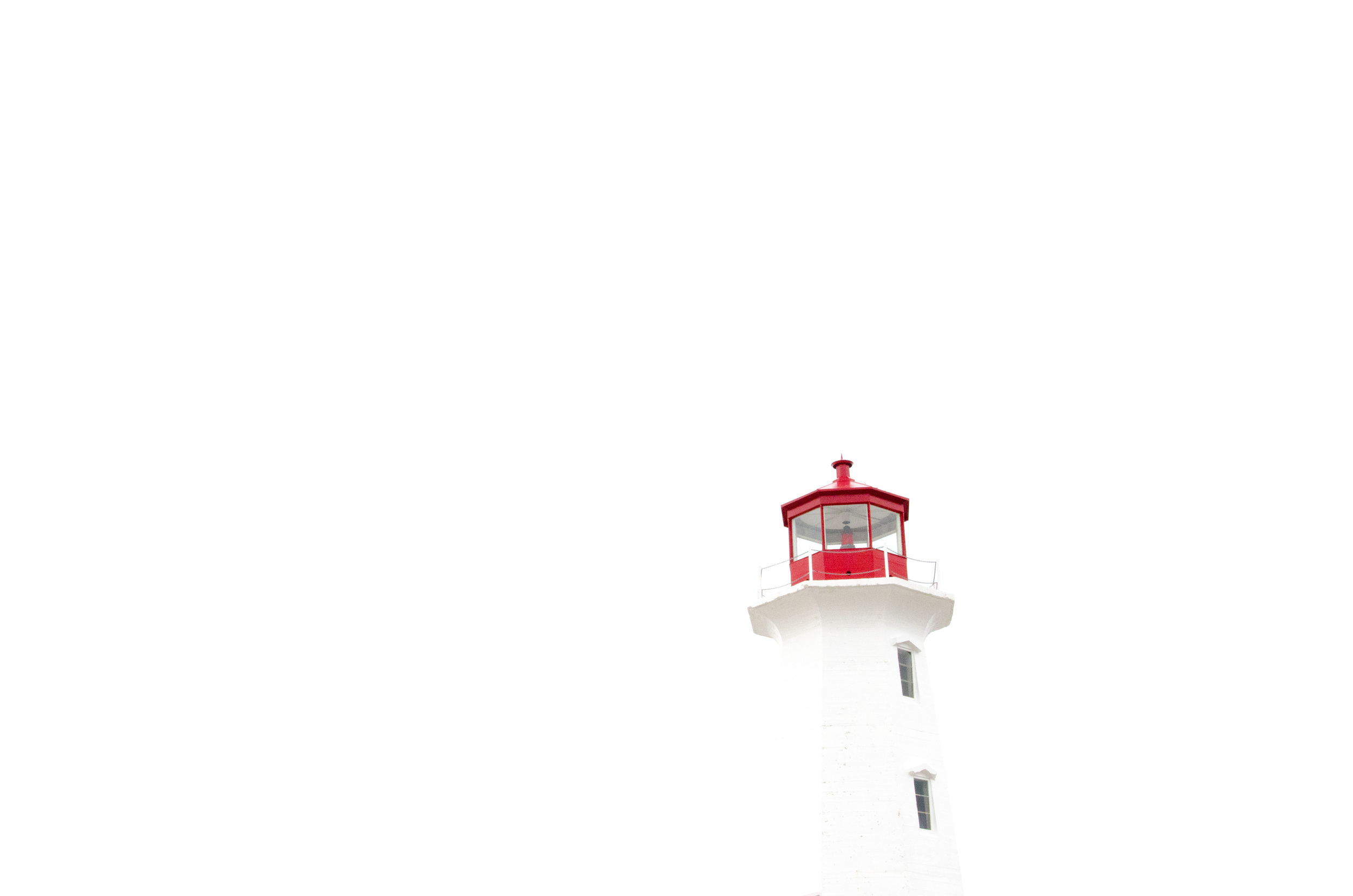 Peggy's Cove Lighthouse Negative Space