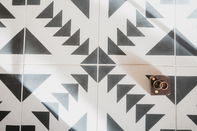 Hunt Amor Rings on Cement Tile Shop Tulum tiles.
