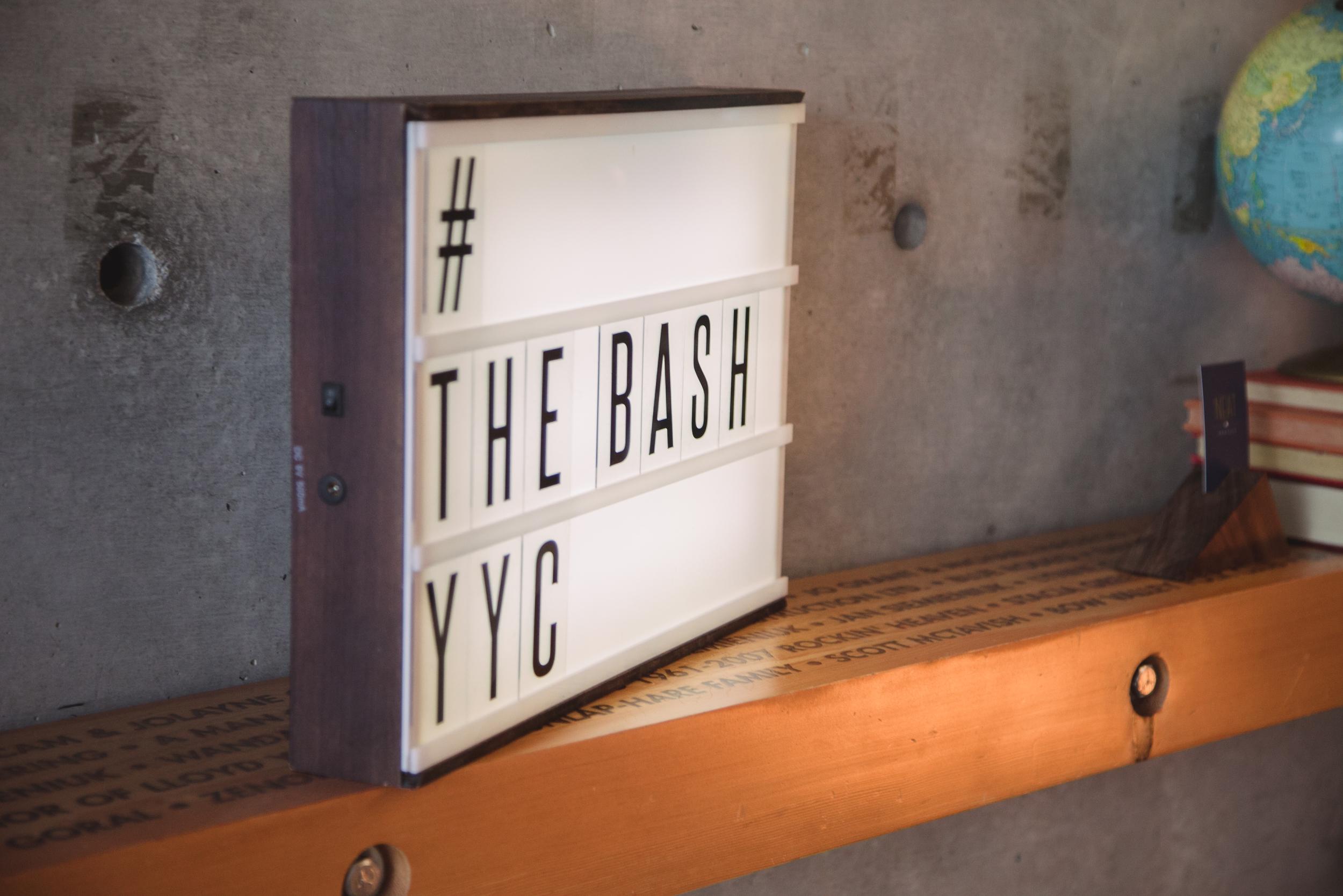 Neat Rentals light box at The Bash