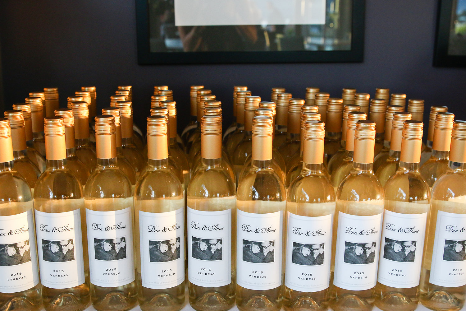 personalized bottles of wine