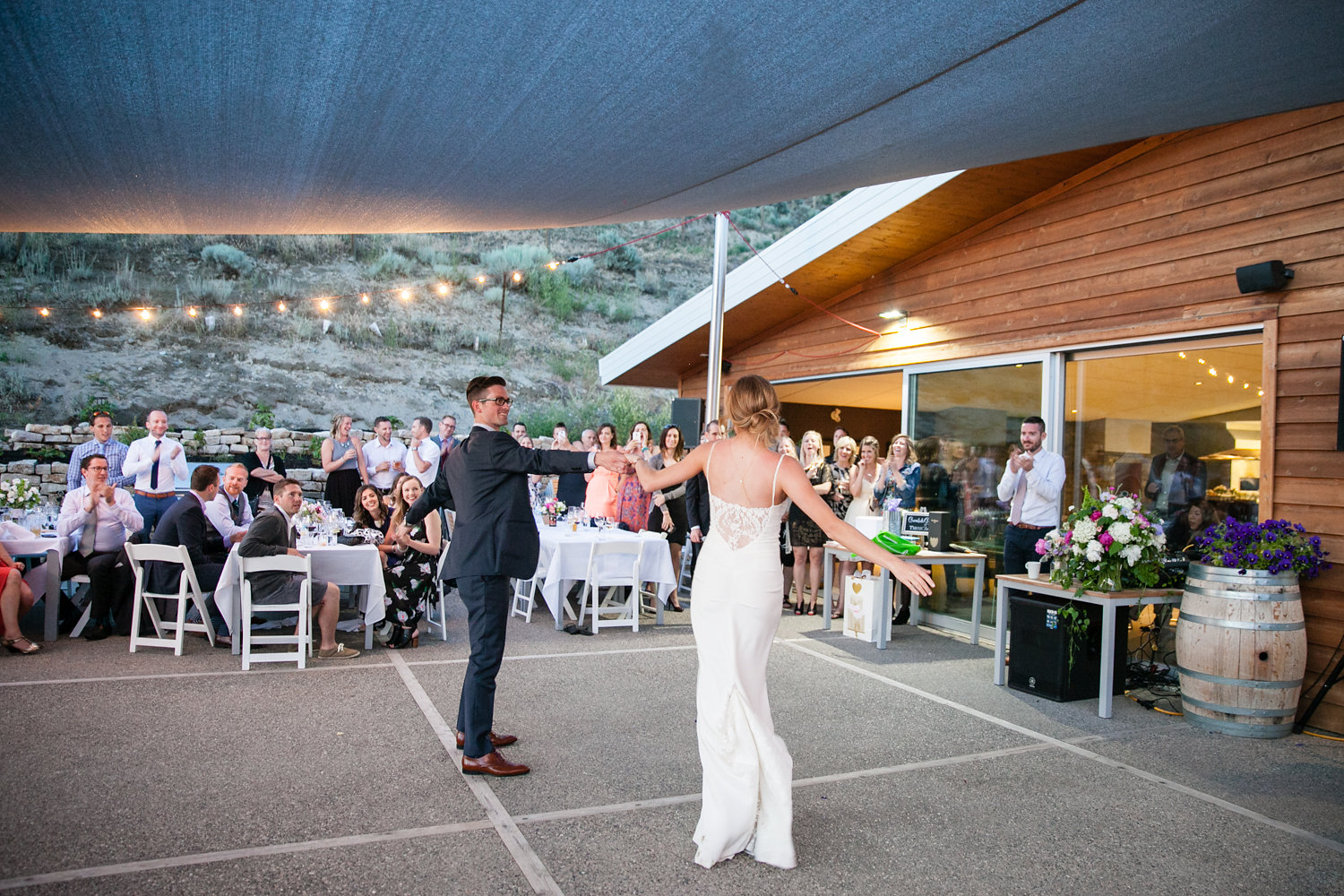 epic first dance at poplar grove