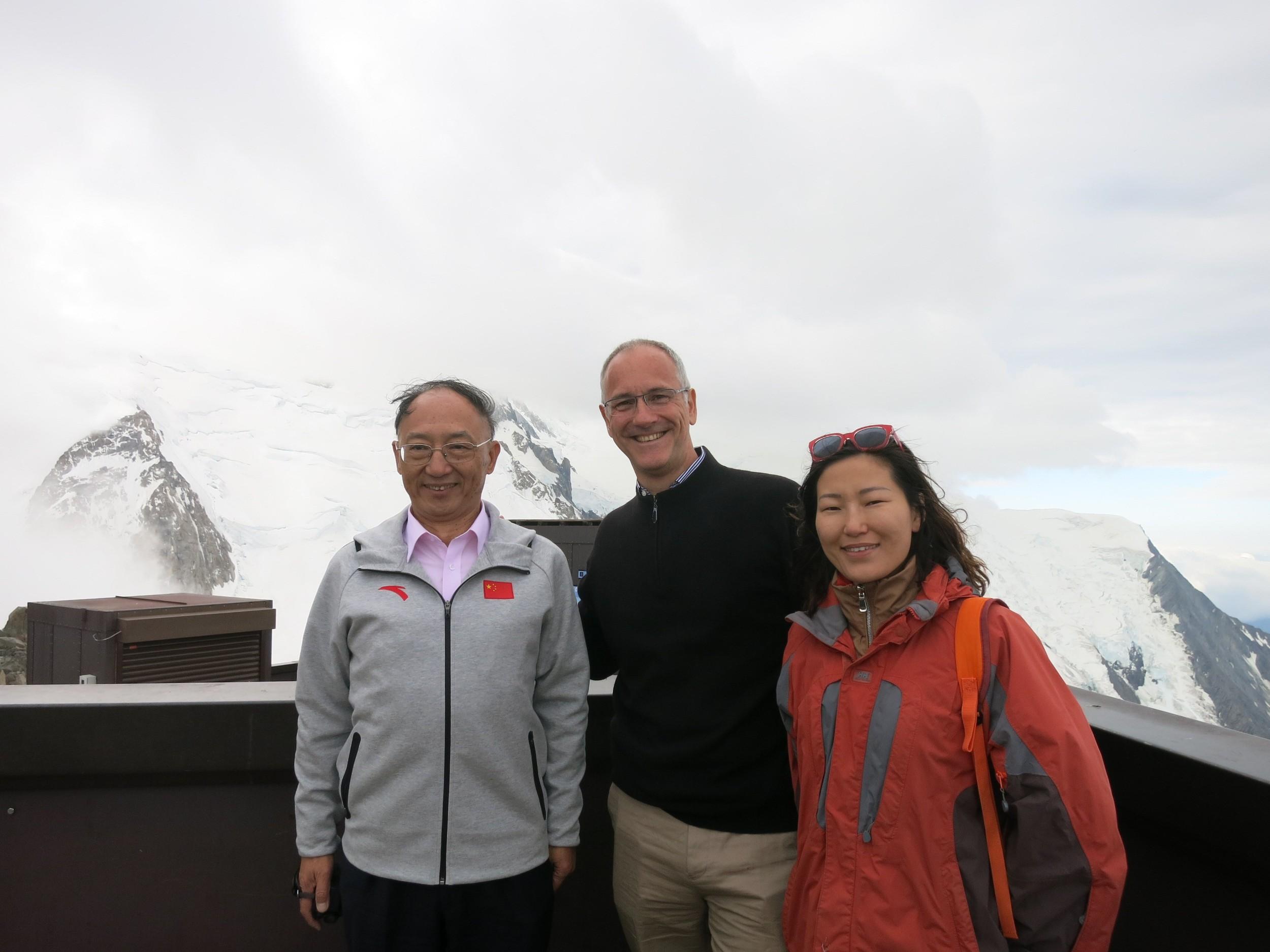 Mr. LIU Peng and NDA's CEO Emmanuel DELARUE, Vice President Qiu Yang