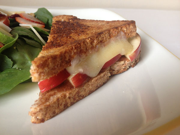 Apple Butter Grilled Cheese | via Frame of Reference