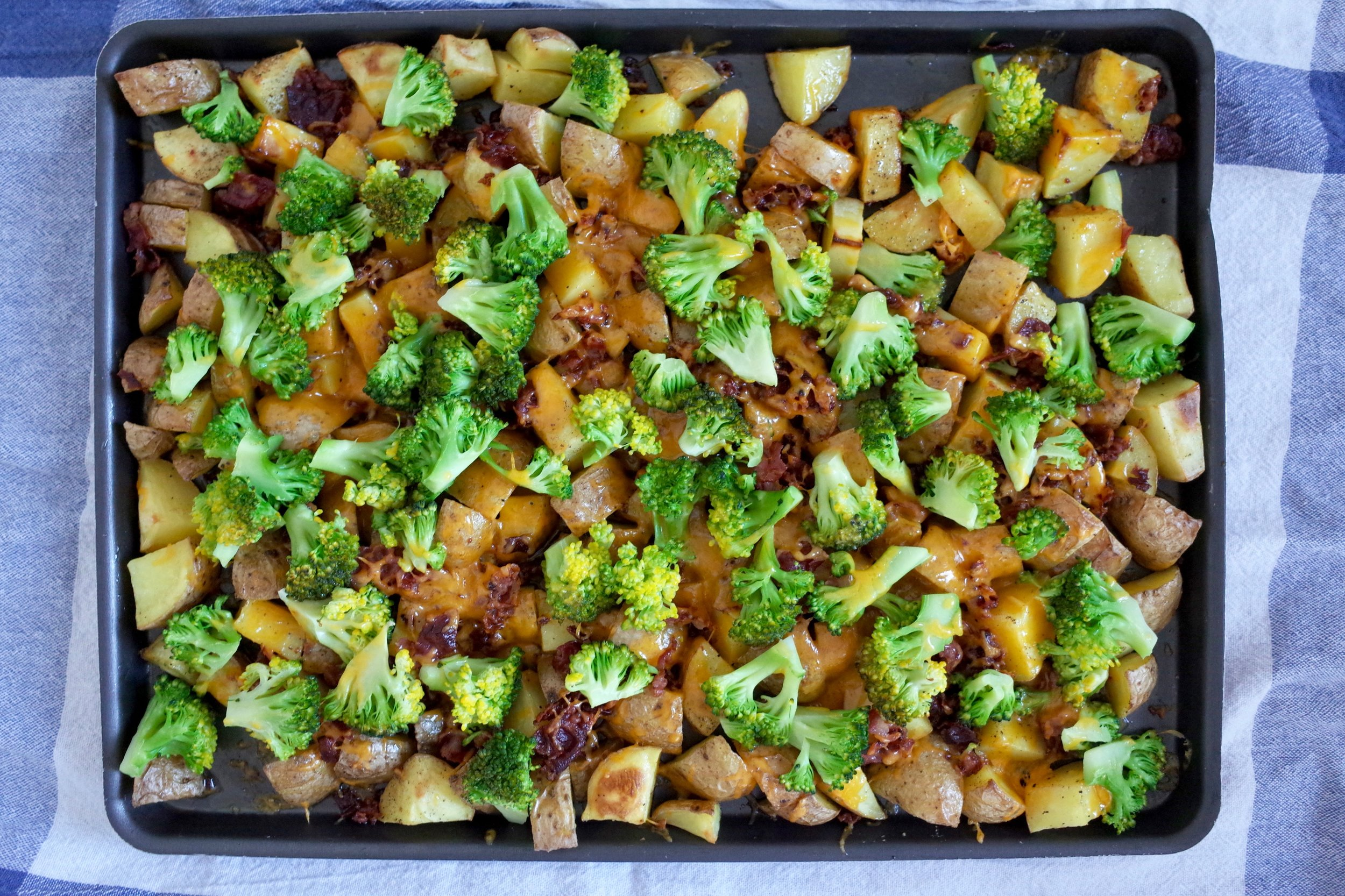 LOADED SHEET PAN POTATOES | via Frame of Reference