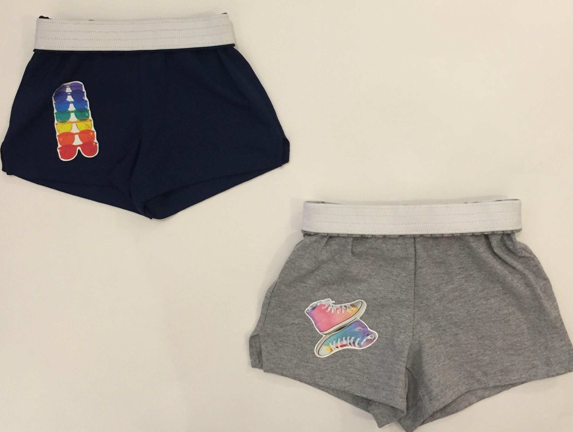 These cotton shorts with fun patches are perfect for summer camp and relaxed summer days