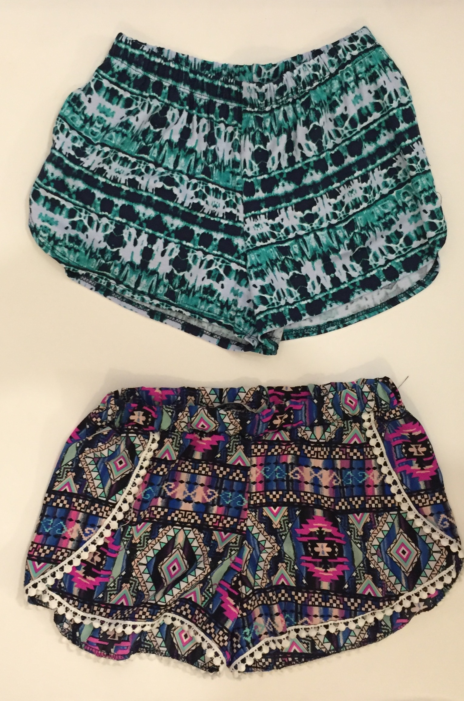 Printed shorts are perfect for parties or great with a tank on hot summer days