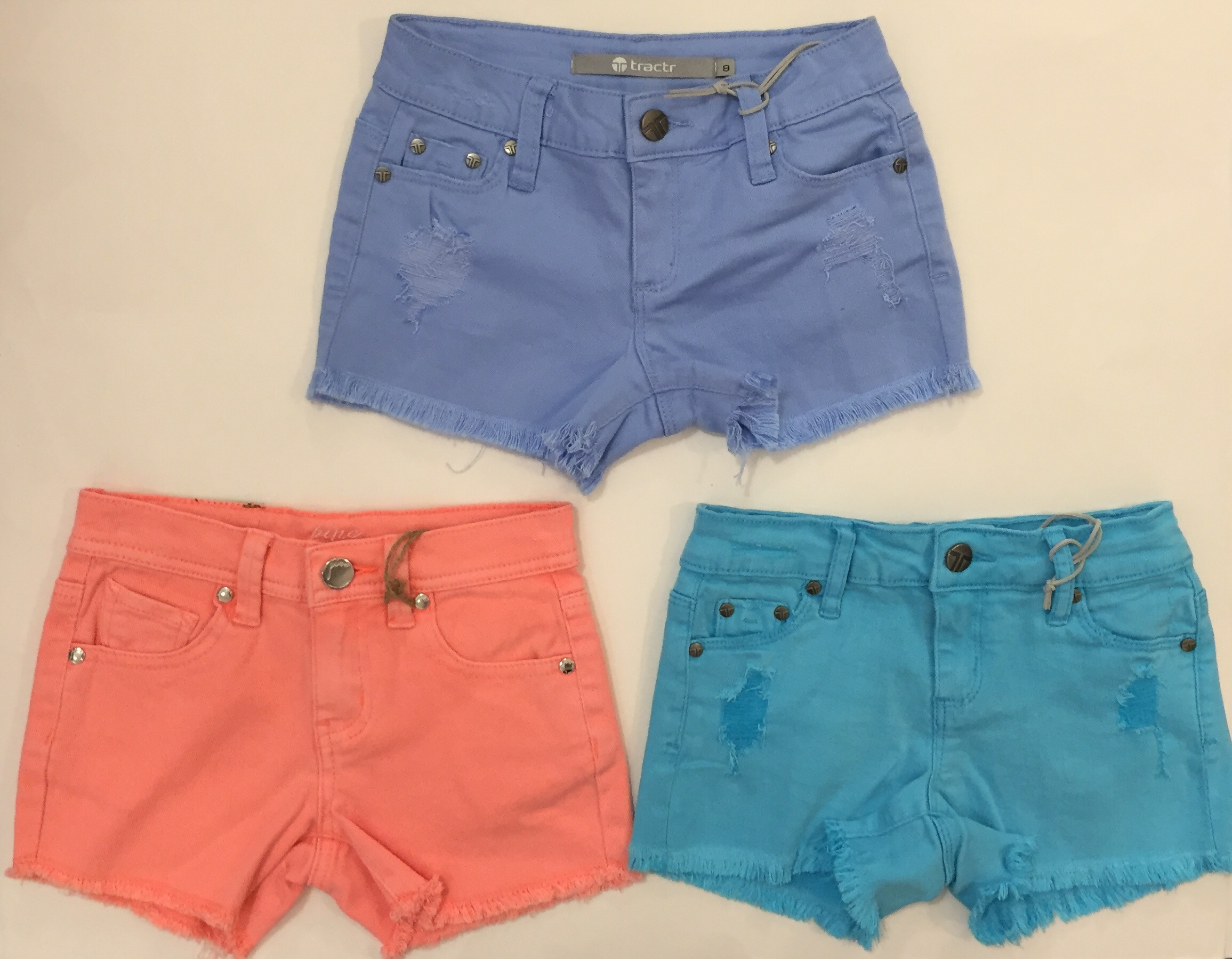 Check out these soft denim shorts available in lots of fun colors!