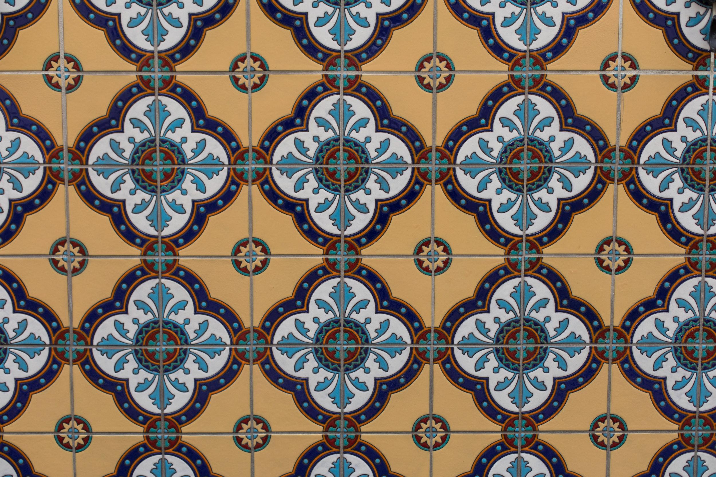 Hilltop Hacienda is an interior design project by Denise Morrison Interiors featuring custom decorative tile.