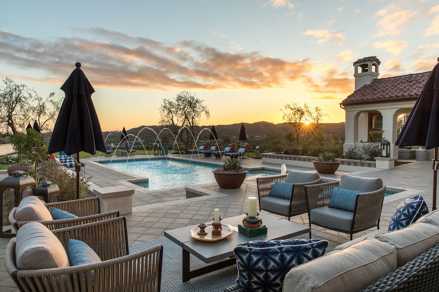Hilltop Hacienda is an interior design project by Denise Morrison Interiors featuring custom patio furniture and outdoor furniture.
