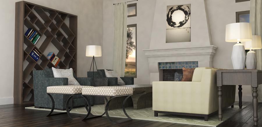 Hilltop Hacienda is an interior design project by Denise Morrison Interiors