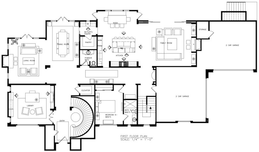 Hilltop Hacienda is an interior design project by Denise Morrison Interiors that features large floor plans.