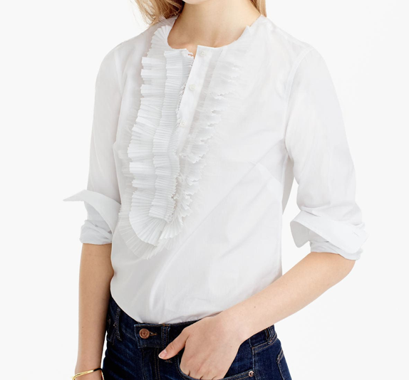 Katherine J Crew Blouse, What Designers Wear to Work by Denise Morrison Interiors.png