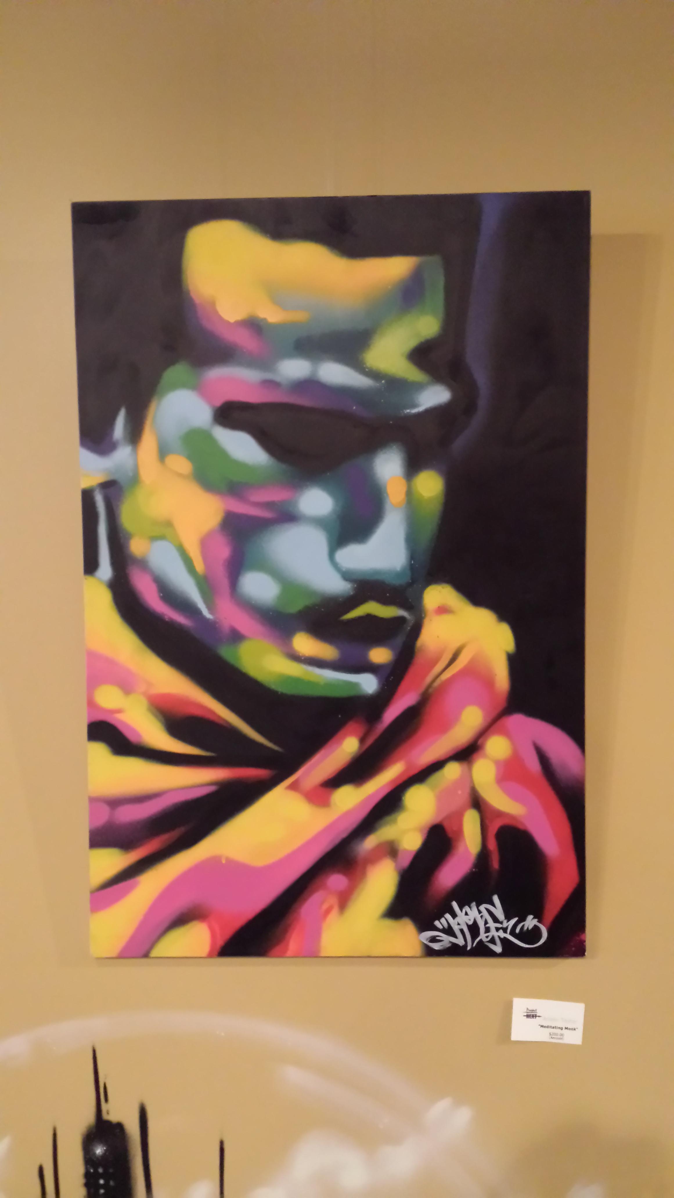 """Meditating Monk"" $200    (Aerosol)"