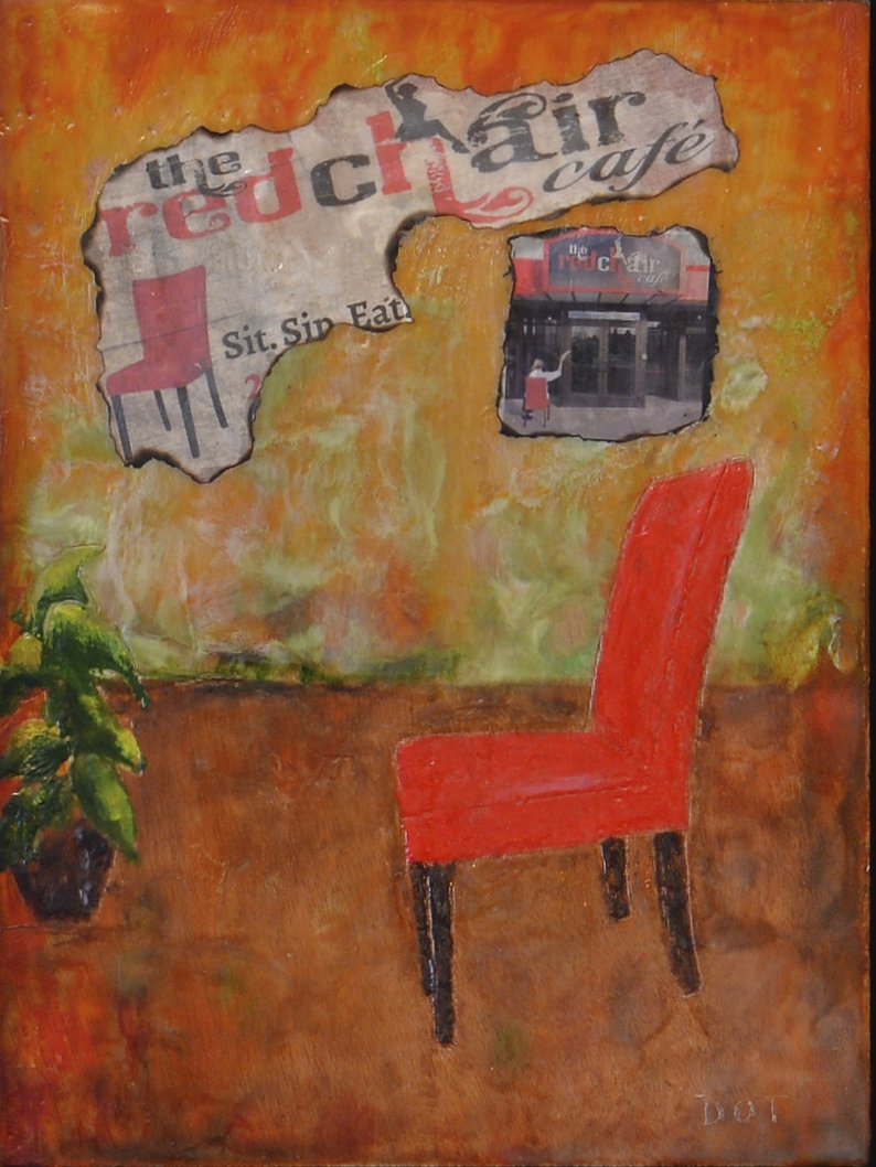 The Red Chair by Dot Tideman