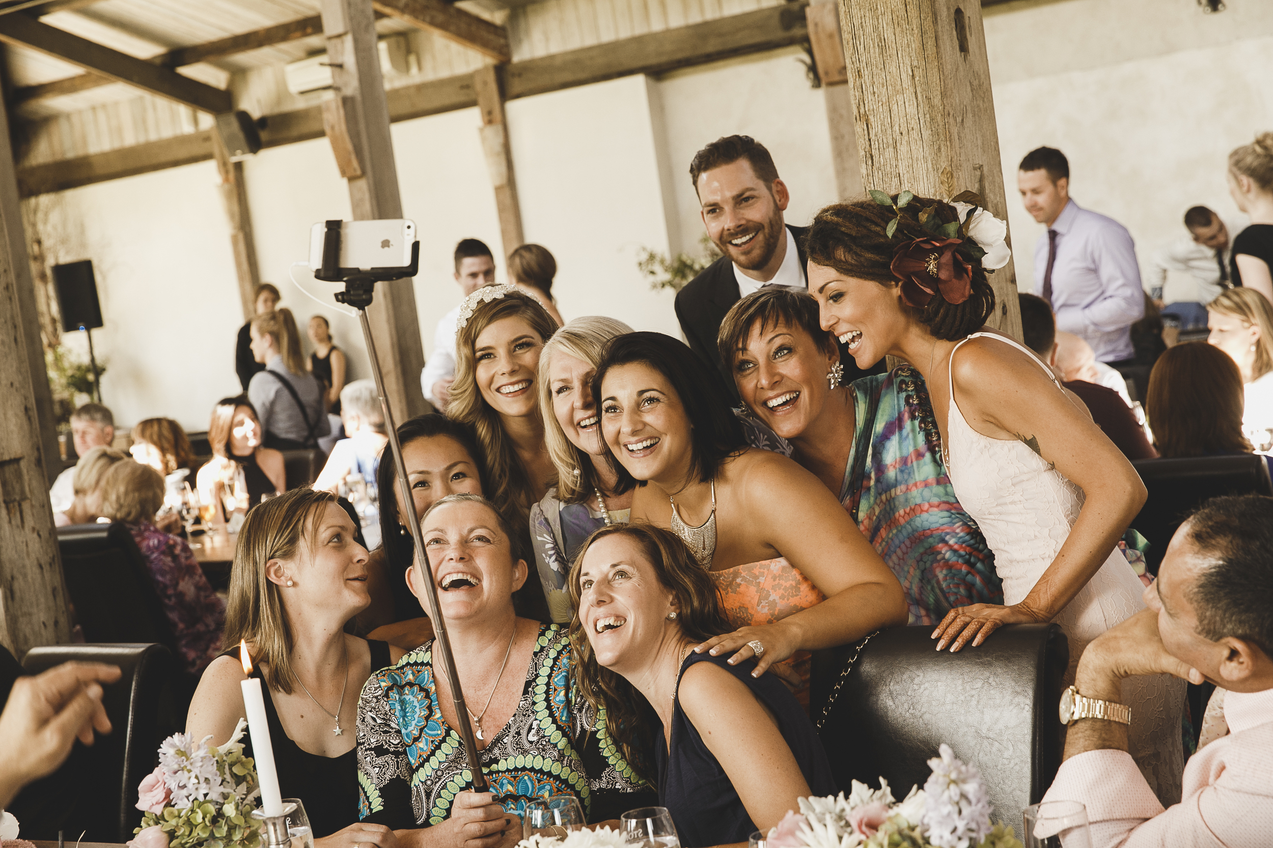 1. Your guests take their own photos on their mobile device...
