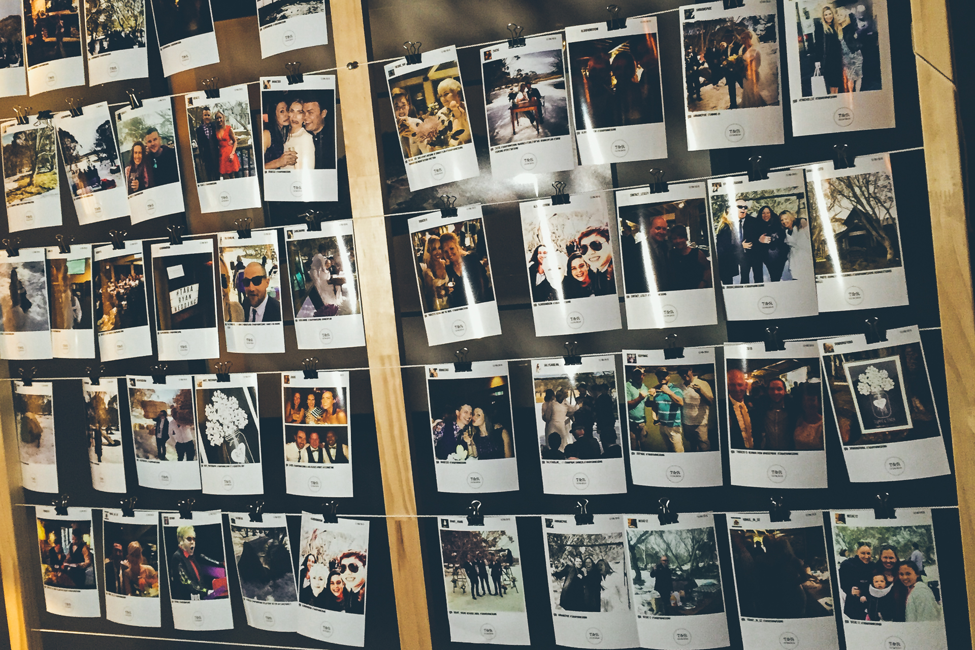 3. THE HASHTAG LAB prints your guests' photos automatically!
