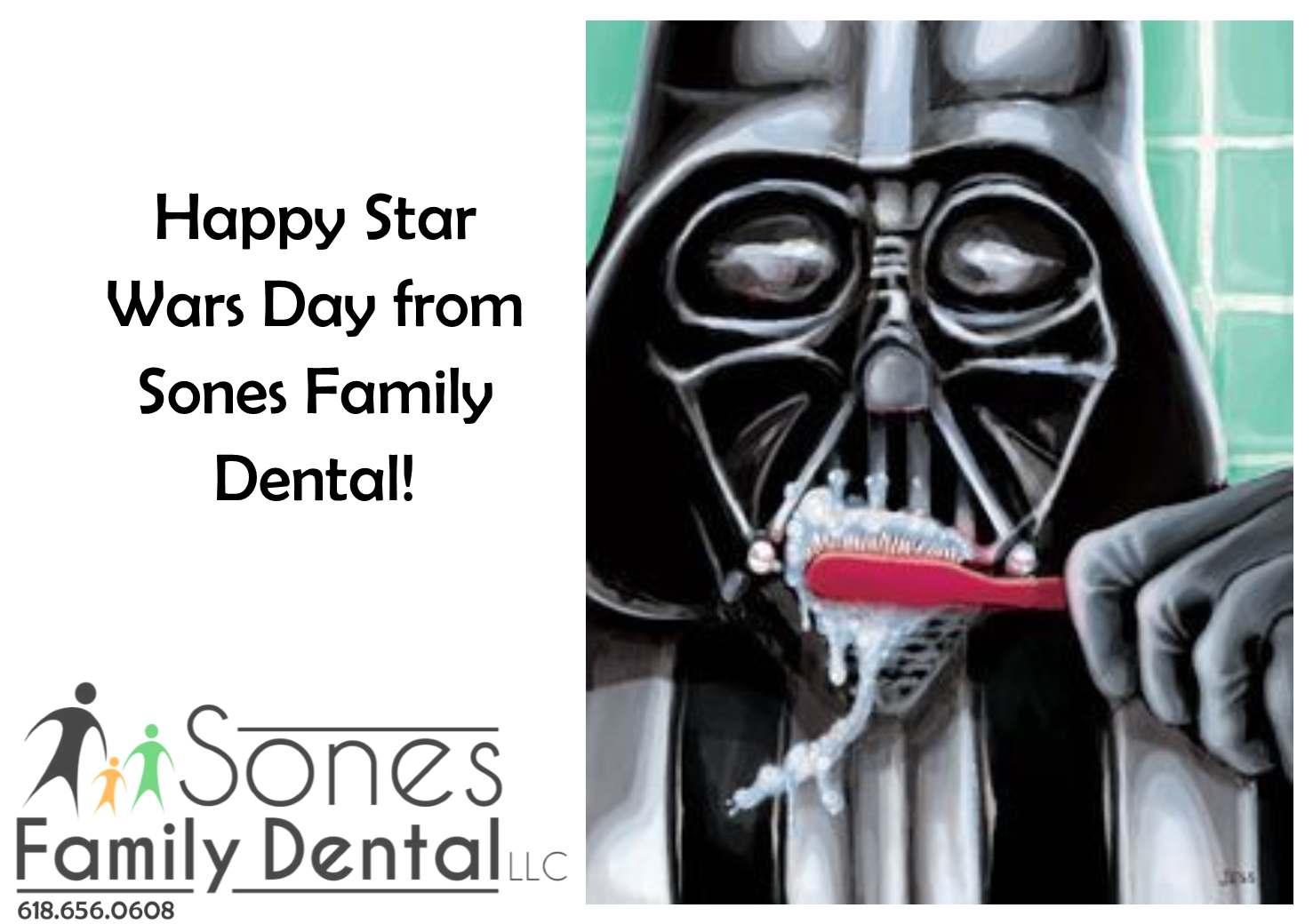 Happy Star Wars Day! — Sones Family Dental // 21 Glen Ed