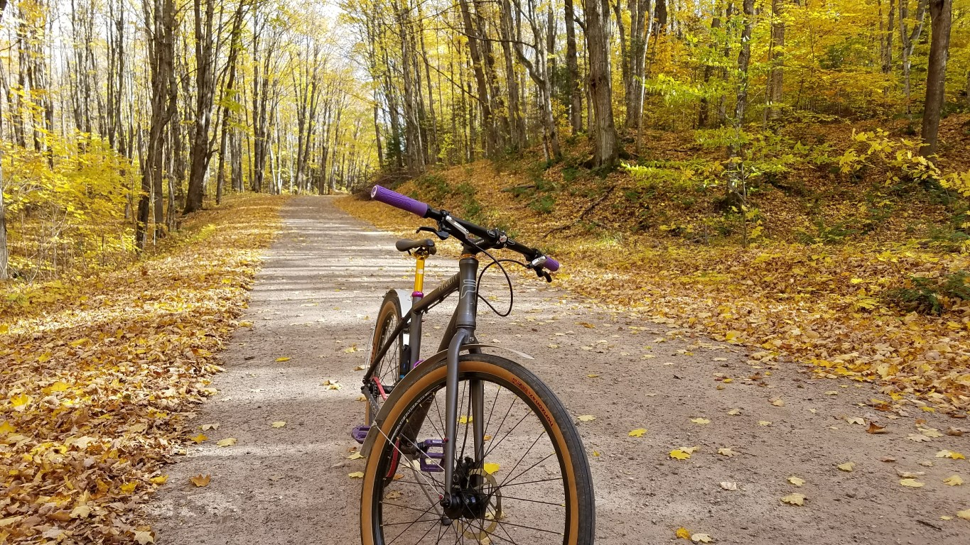 - The Horizon tires are planted and secure on gravel