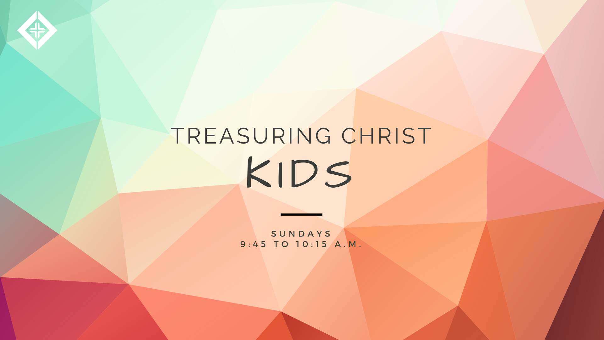 Summer Break - Treasuring Christ Kids is on break for the summer and will be offered again in late August.