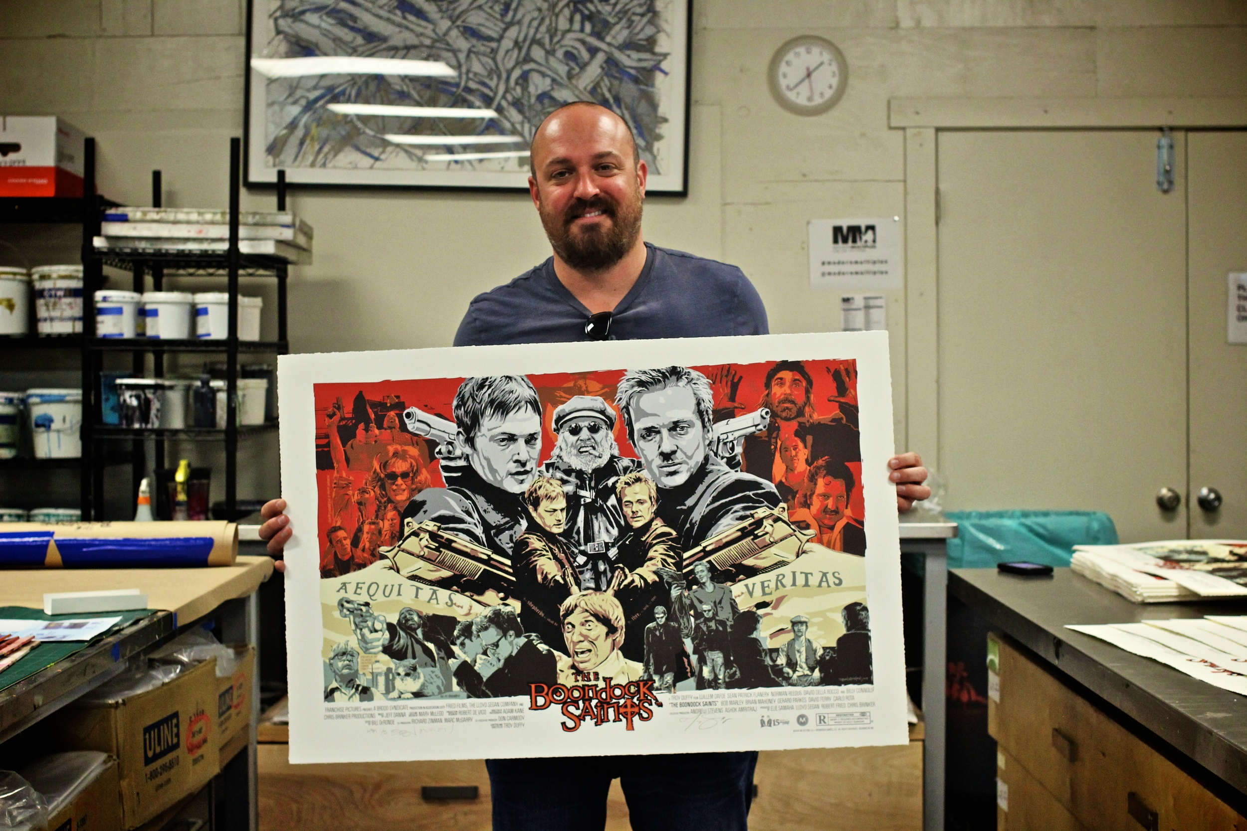 Boondock Saints Creator/Writer/Director Troy Duffy with the Variant Edition