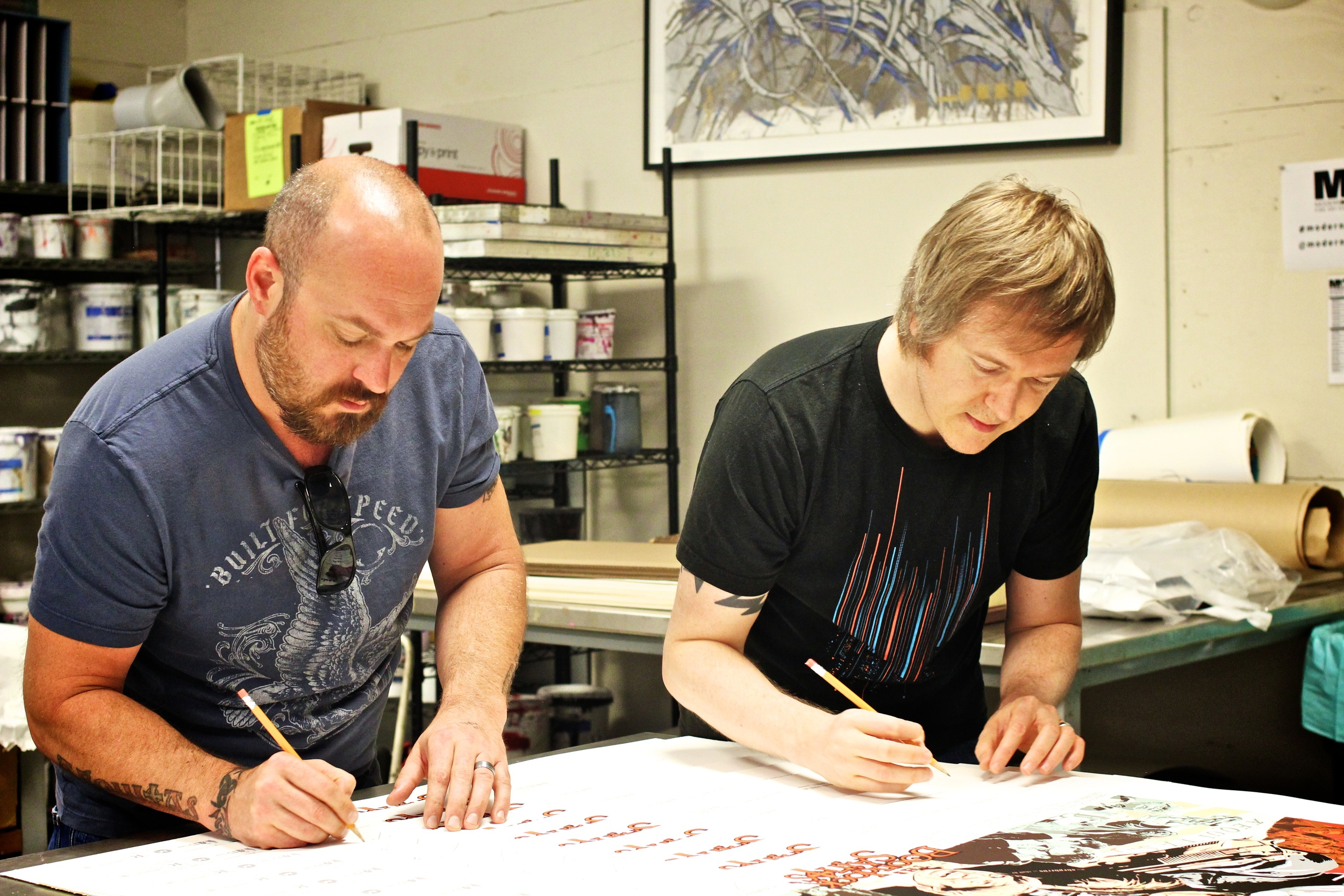 Troy Duffy and Artist, Eben Matthews Signing the Variant Editions