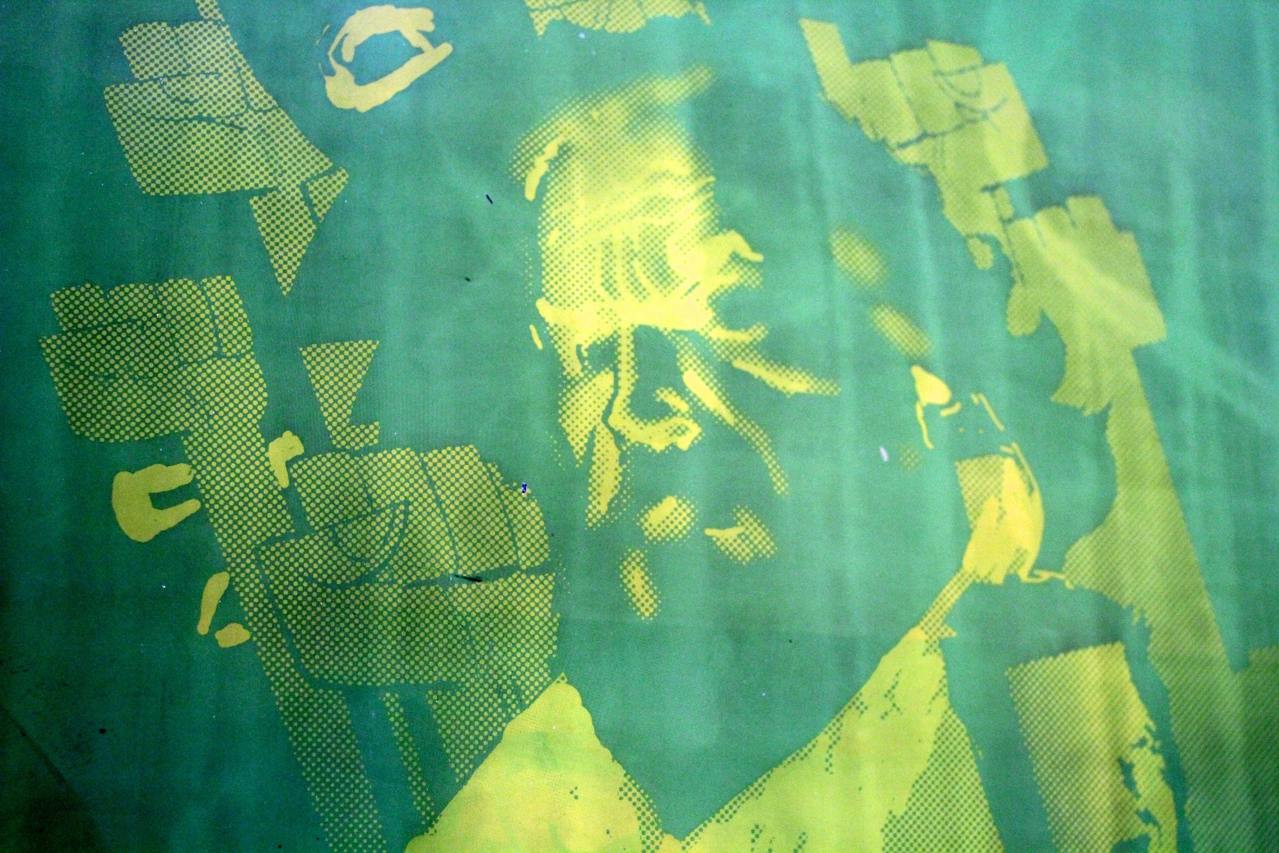 """""""Il Duce"""" Screen just post Printing"""