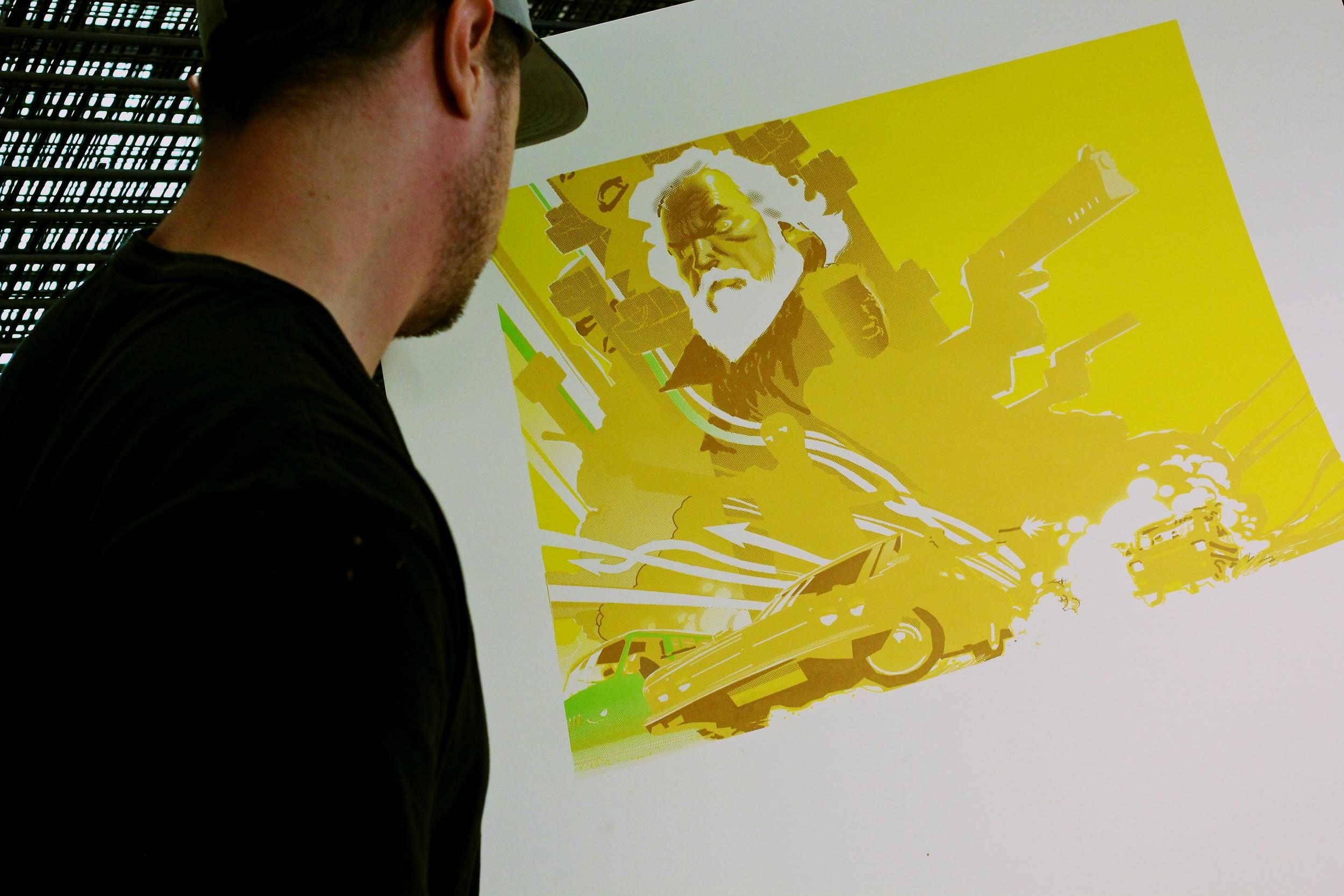 Checking a fresh print color