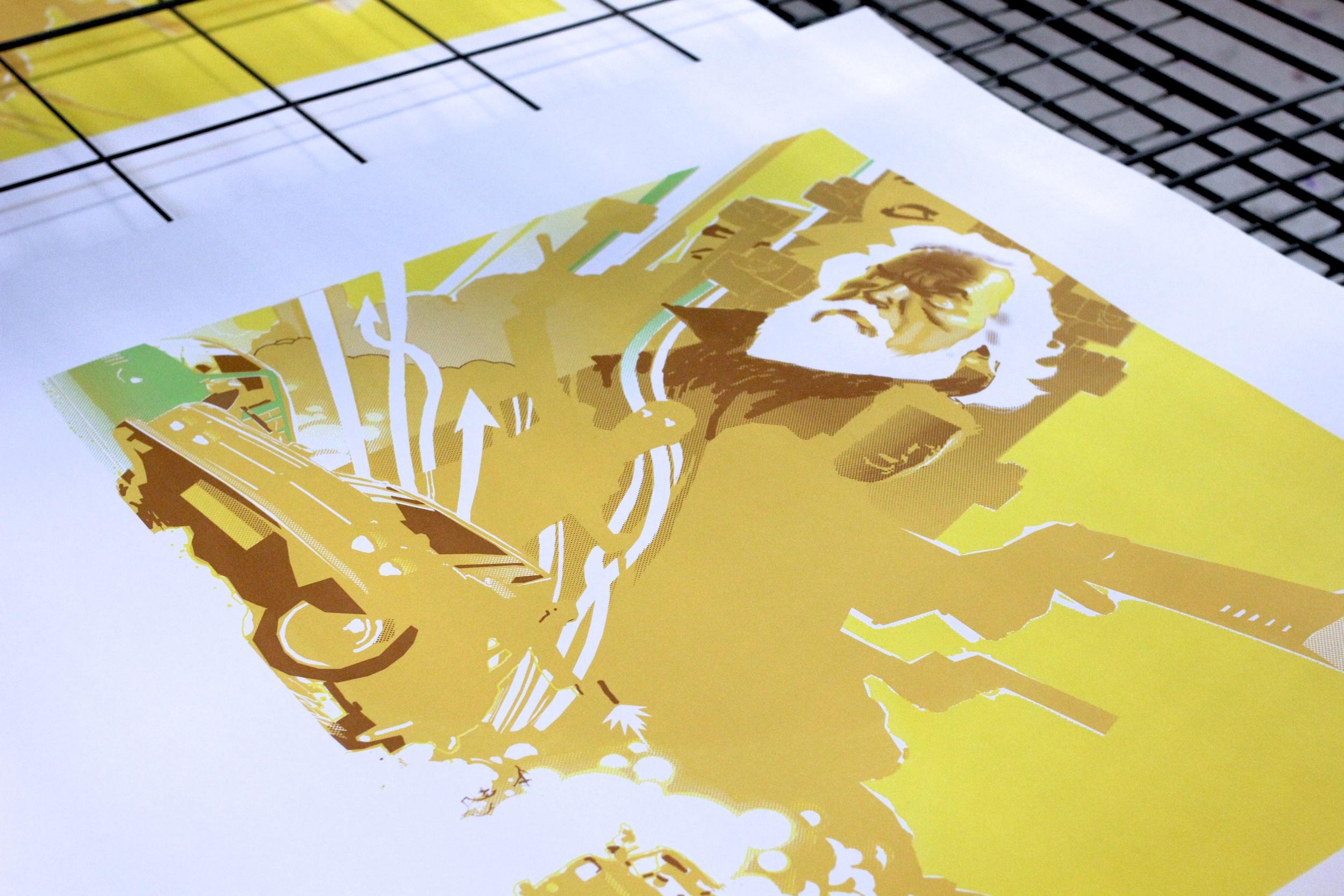 Detail of print in progress