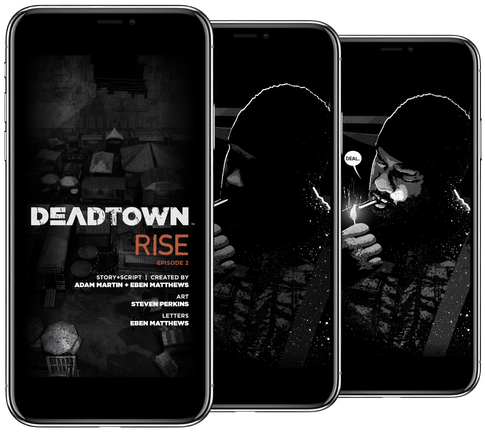 DeadTown utilizes M2's innovative Tap-through storytelling technique to create a cinematic experience