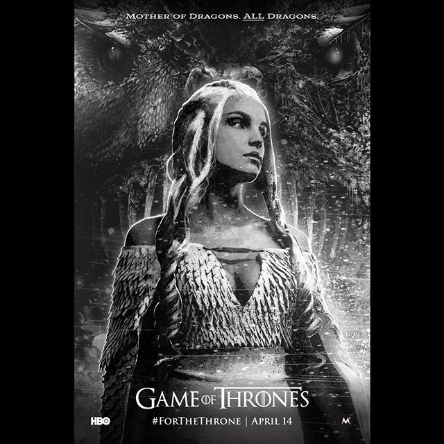 Who's excited? #forthethrone  GoT @thedeadtown style! . . . #gameofthrones #fanart #got #gotart #gameofthronesart #gameofthronesfanart #dragon #icedragon #queen #gots8 #hbo #gameofthroneshbo #motherofdragons #noir #blackandwhite #art #illustration #poster #posterart #tv #tvart #fantasy #fantasyart #sexy #deadtown
