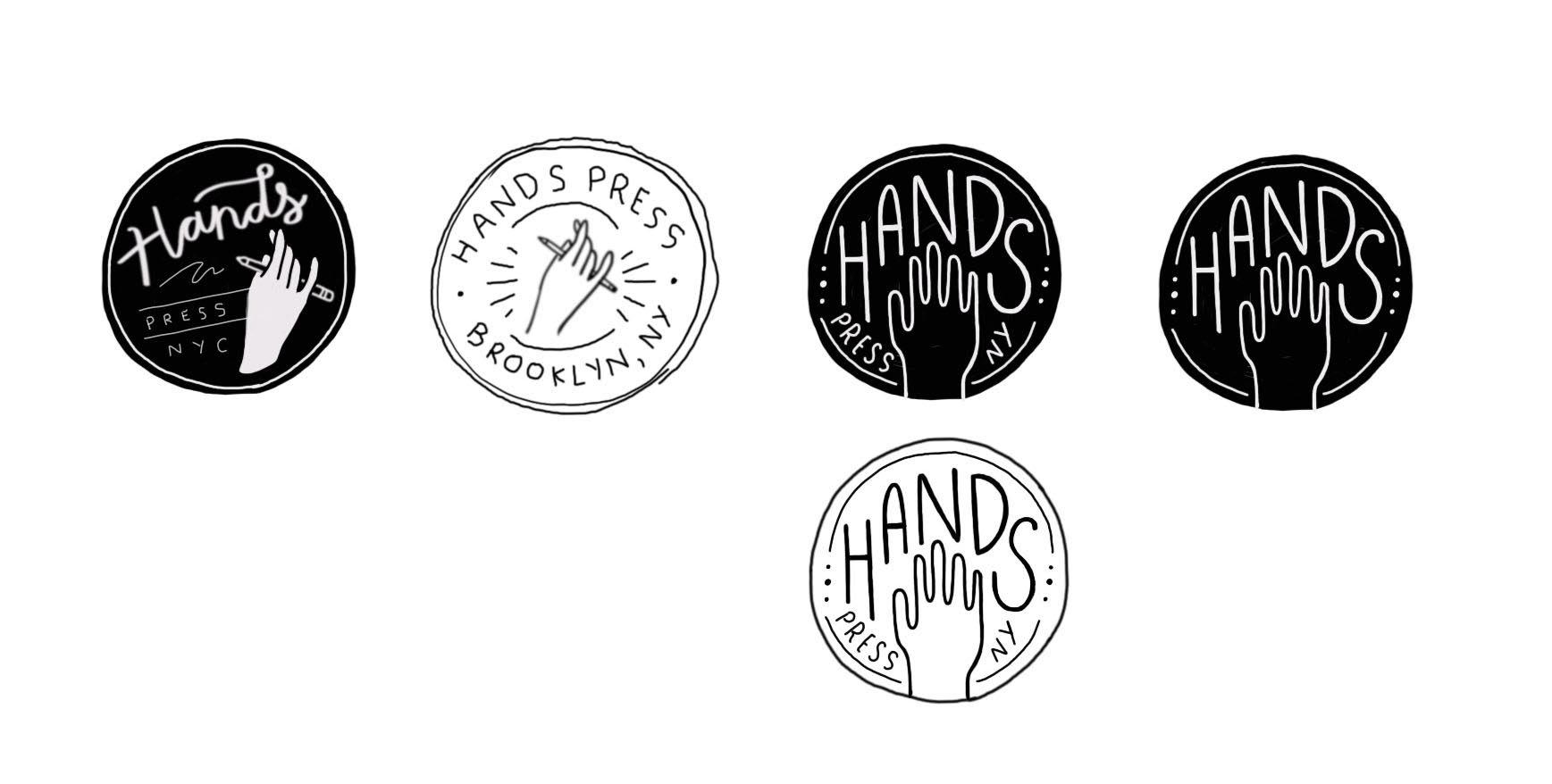 Initial logo idea sketches.