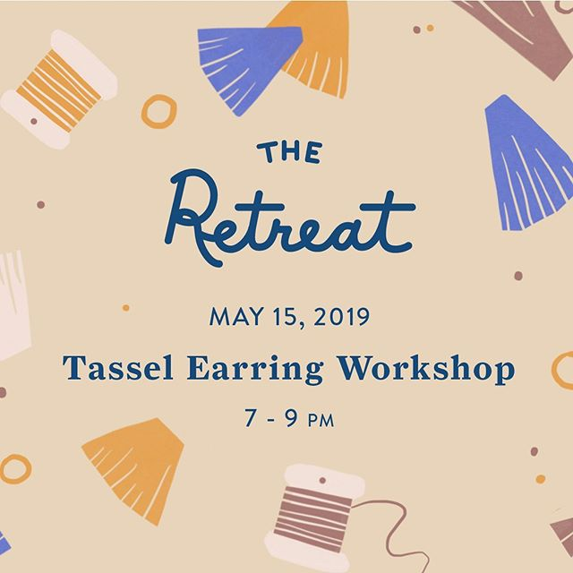 There's still time to get your ticket for our event with @sofiaramsay tomorrow! Come learn how to make all the tassel earrings of your dreams 🧶  @theretreat.nyc #retreattous #retreattowomen #tasselearrings