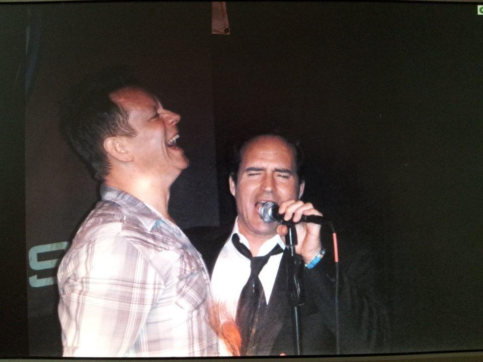 Jimi Vallandingham singing with Jason Patrick at Stevie Rays Blues Bar