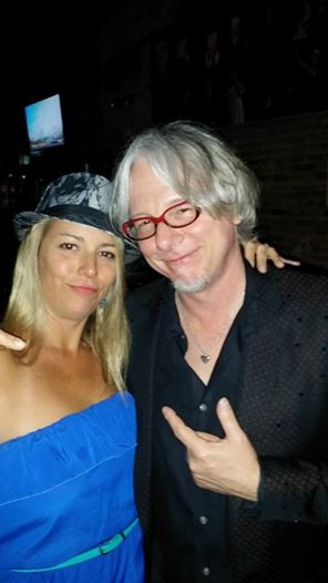 Mike Mills of R.E.M with Tanya Elswick