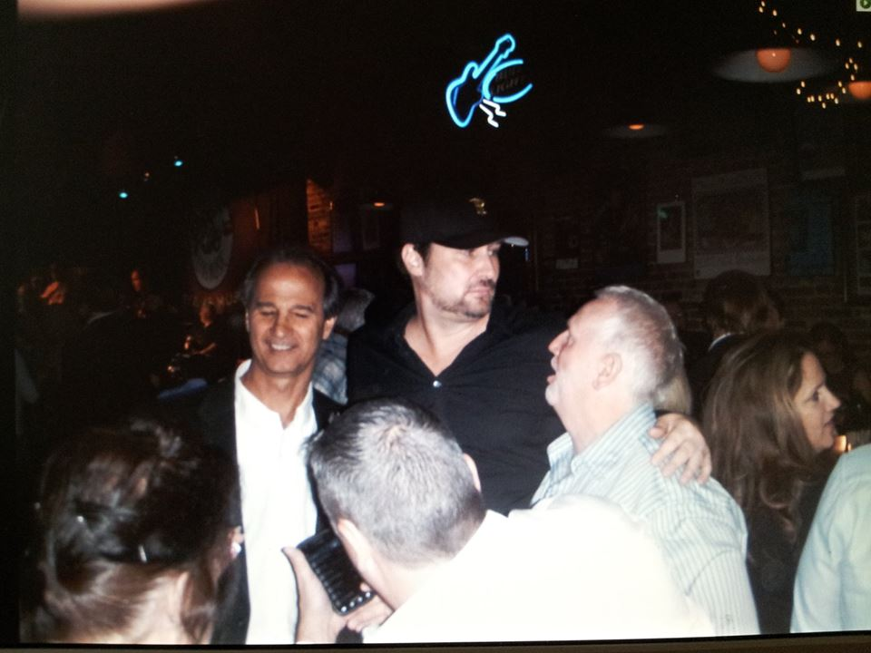 Phil Hellmuth world champion poker player with Nick Morley and Bill Sanders